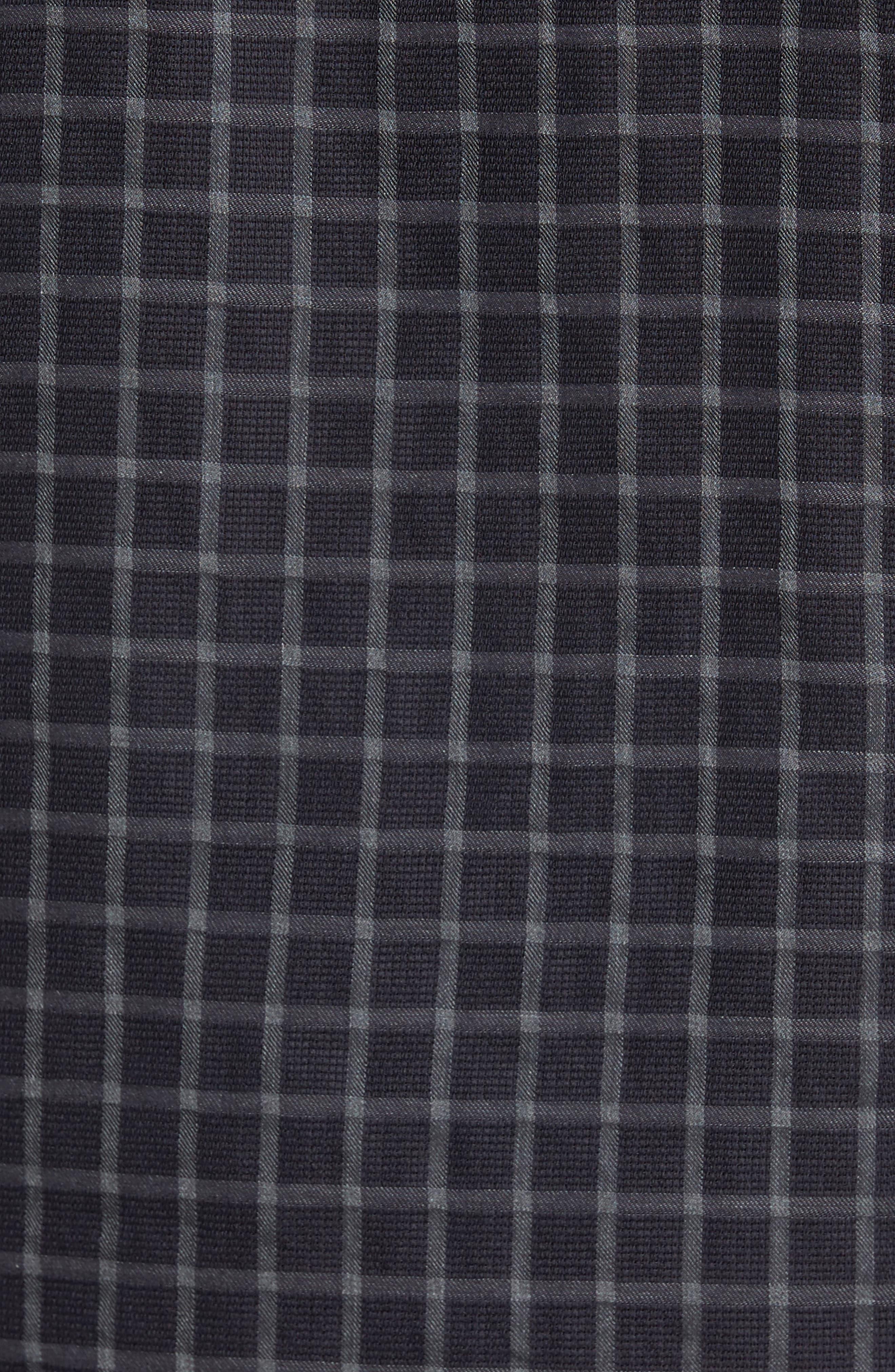 Rosedale Slim Fit Check Sport Shirt,                             Alternate thumbnail 5, color,                             Navy/ Grey