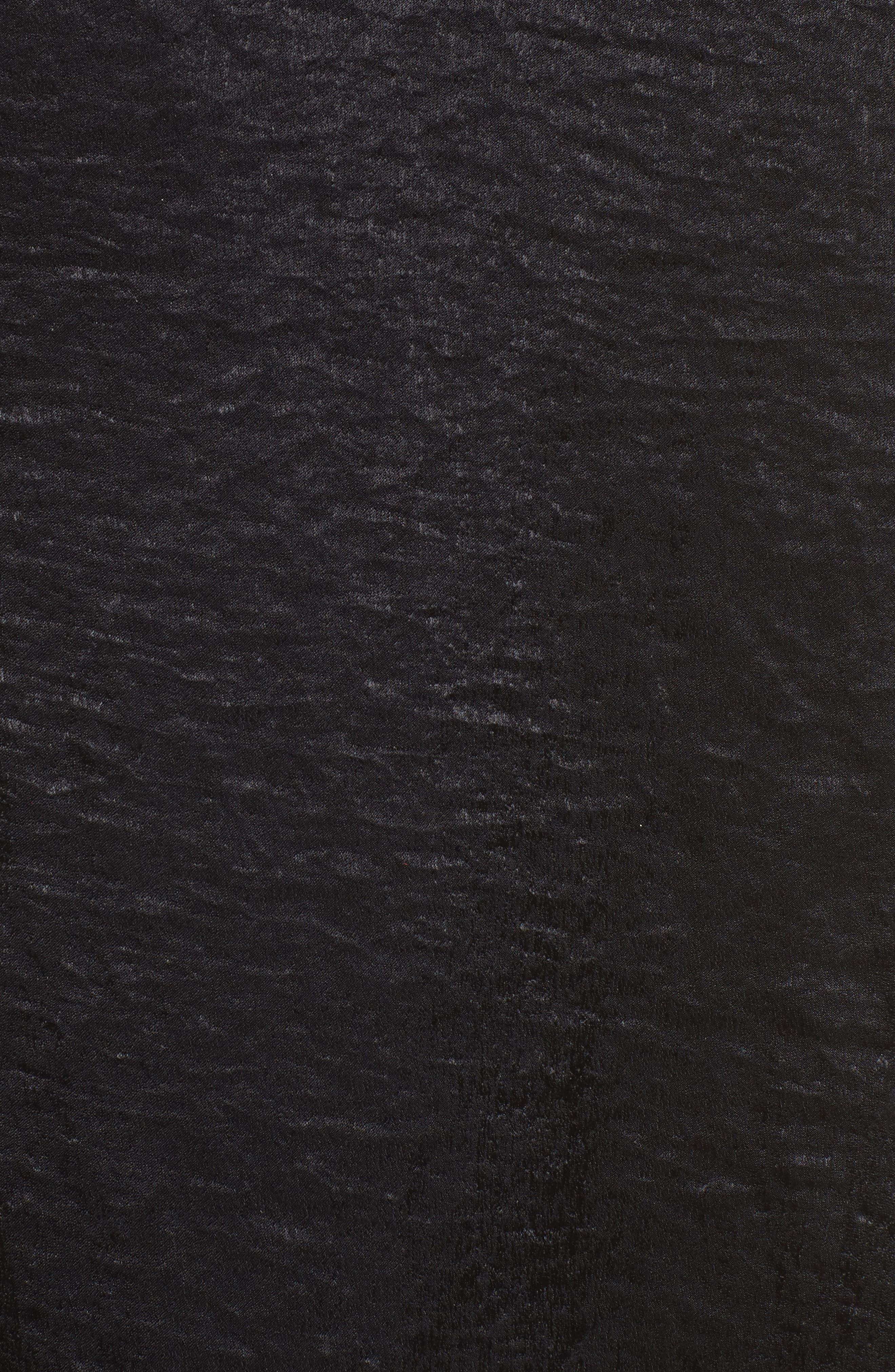 Anita Wrap Maxi Dress,                             Alternate thumbnail 5, color,                             Black Silky Satin