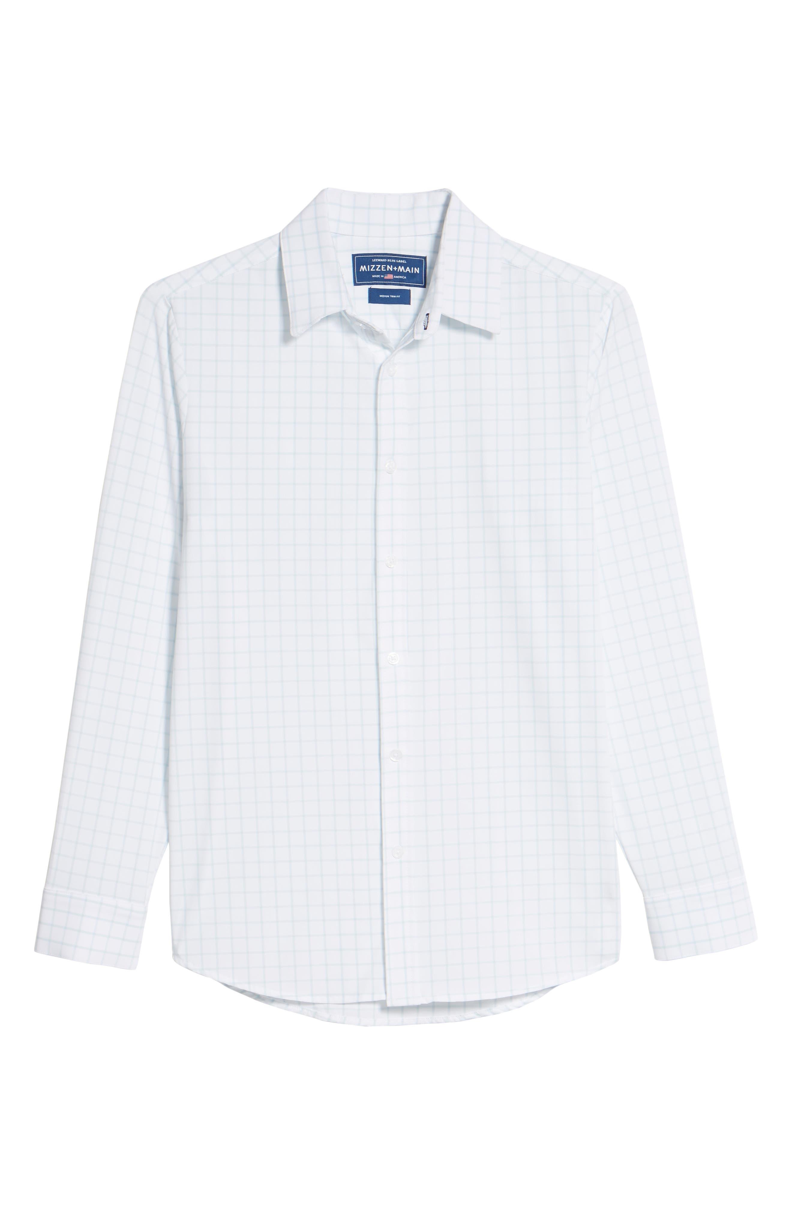 Alternate Image 6  - Mizzen+Main Blue Label Hull Slim Fit Crosshatch Sport Shirt