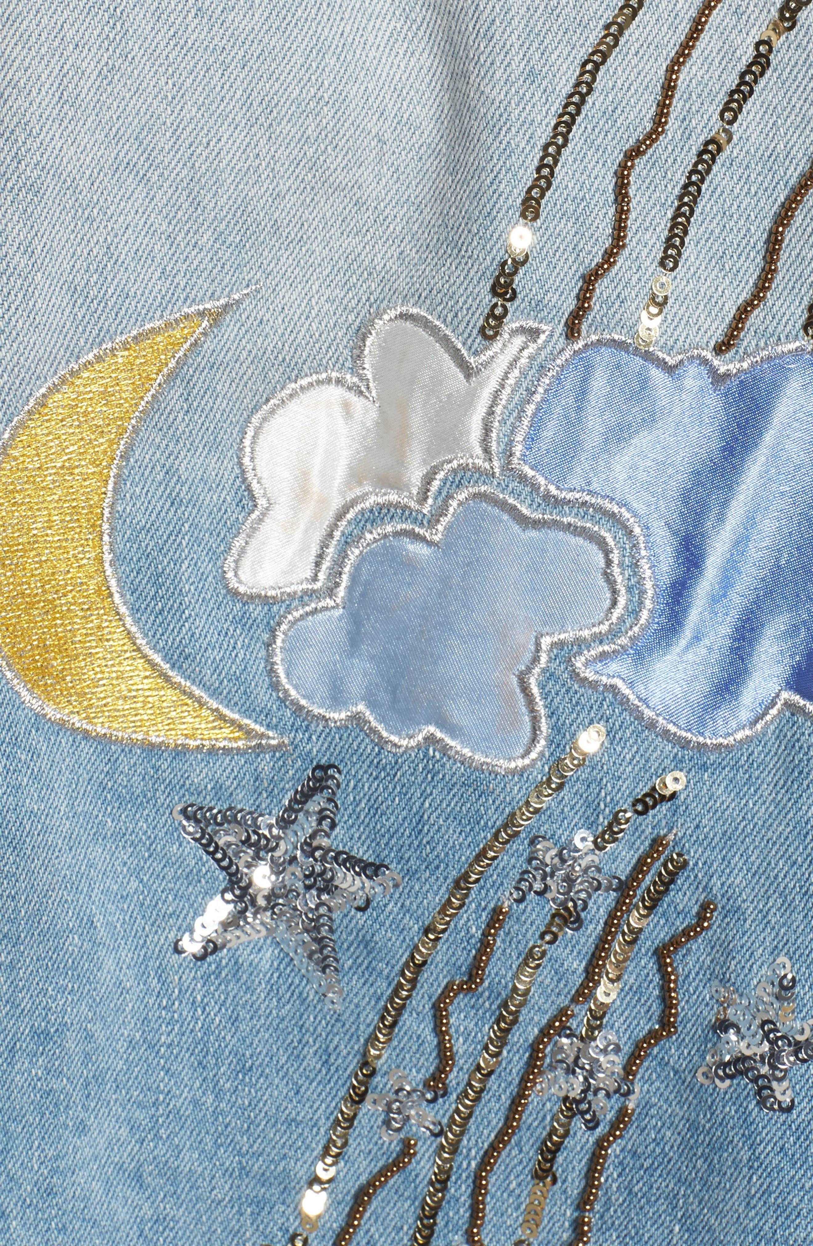 Milkyway Walker Denim Jacket,                             Alternate thumbnail 6, color,                             Margaux Wash