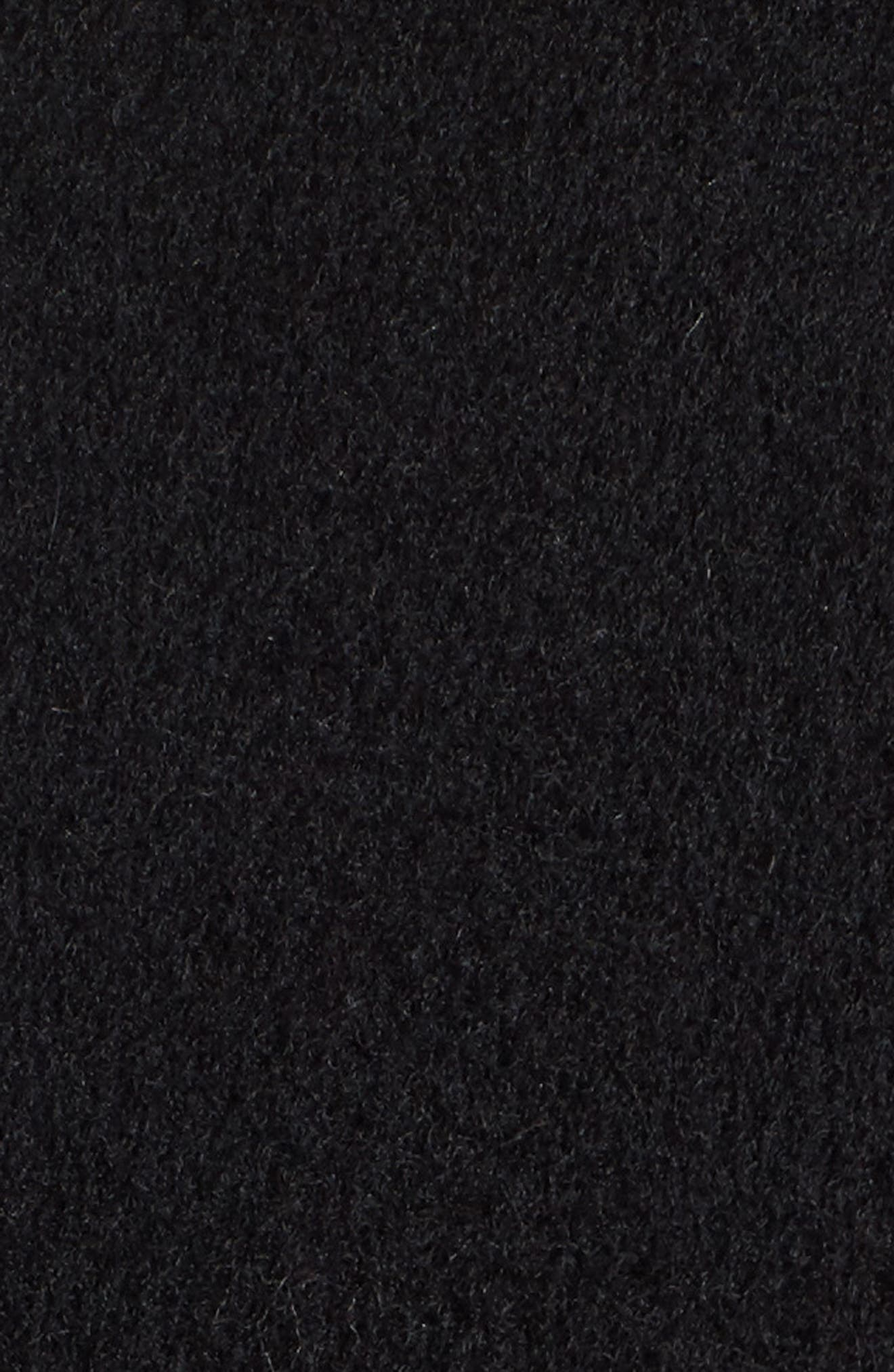 Boiled Wool Blend Wrap Coat,                             Alternate thumbnail 4, color,                             Black