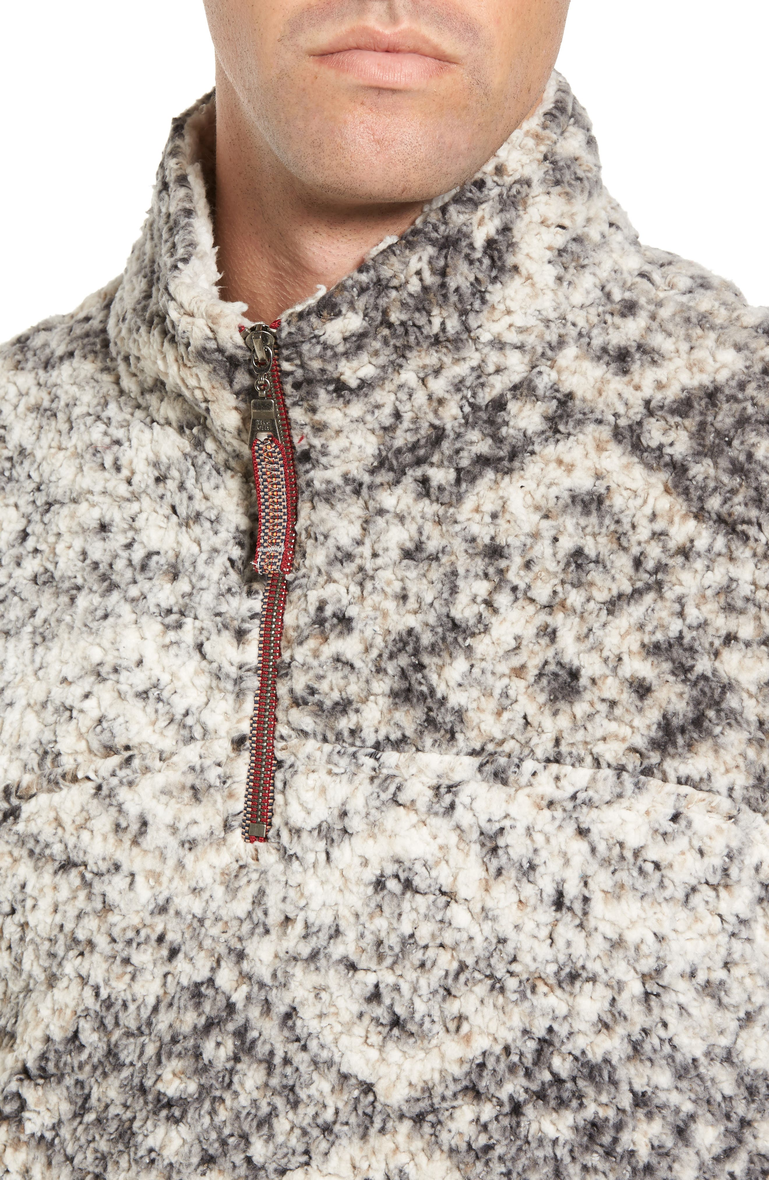 Alternate Image 4  - True Grit Print Frosty Tipped Quarter Zip Pullover