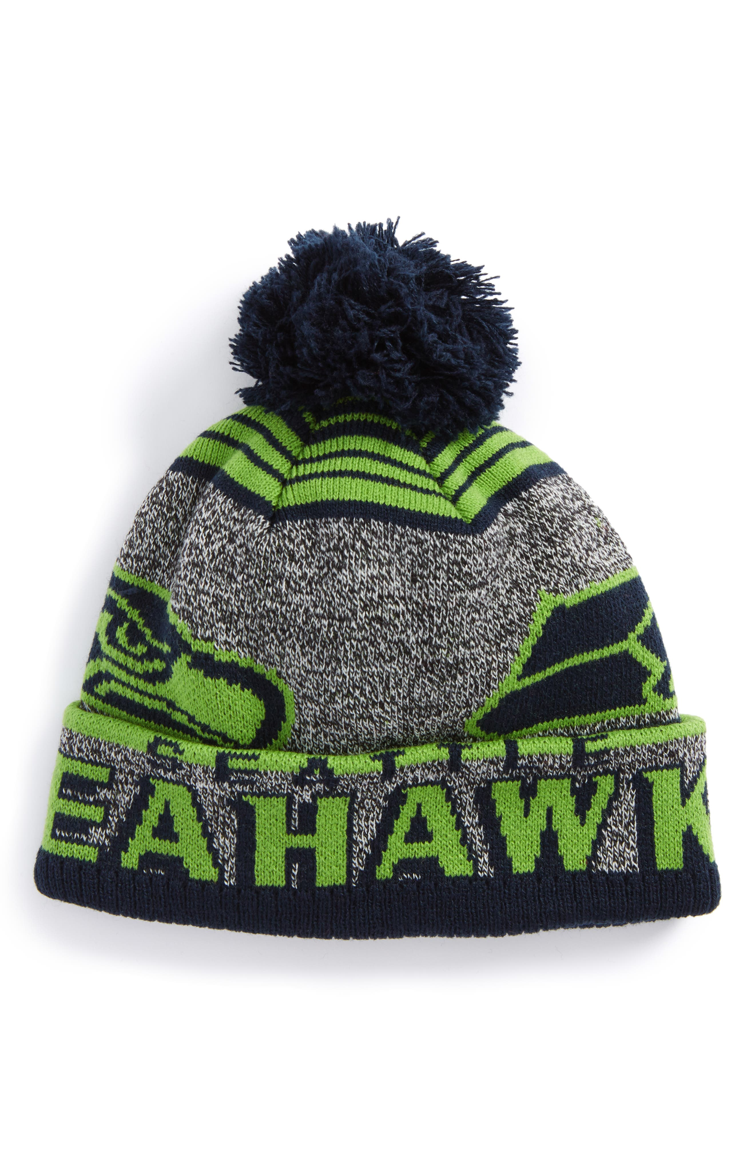 NFL Logo Jacquard Knit Cap (Kids)
