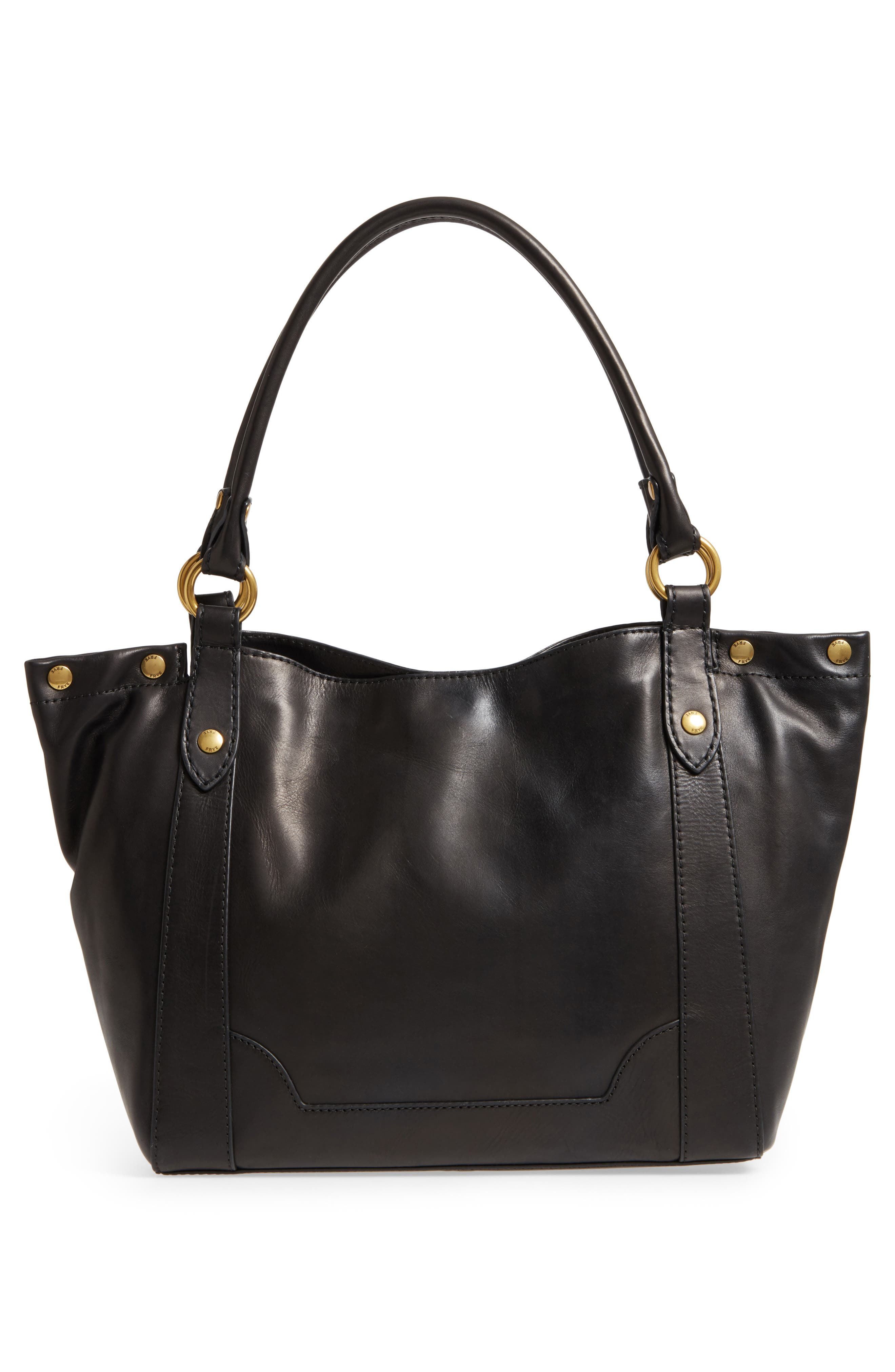 Melissa Leather Shoulder Bag,                             Alternate thumbnail 2, color,                             Black