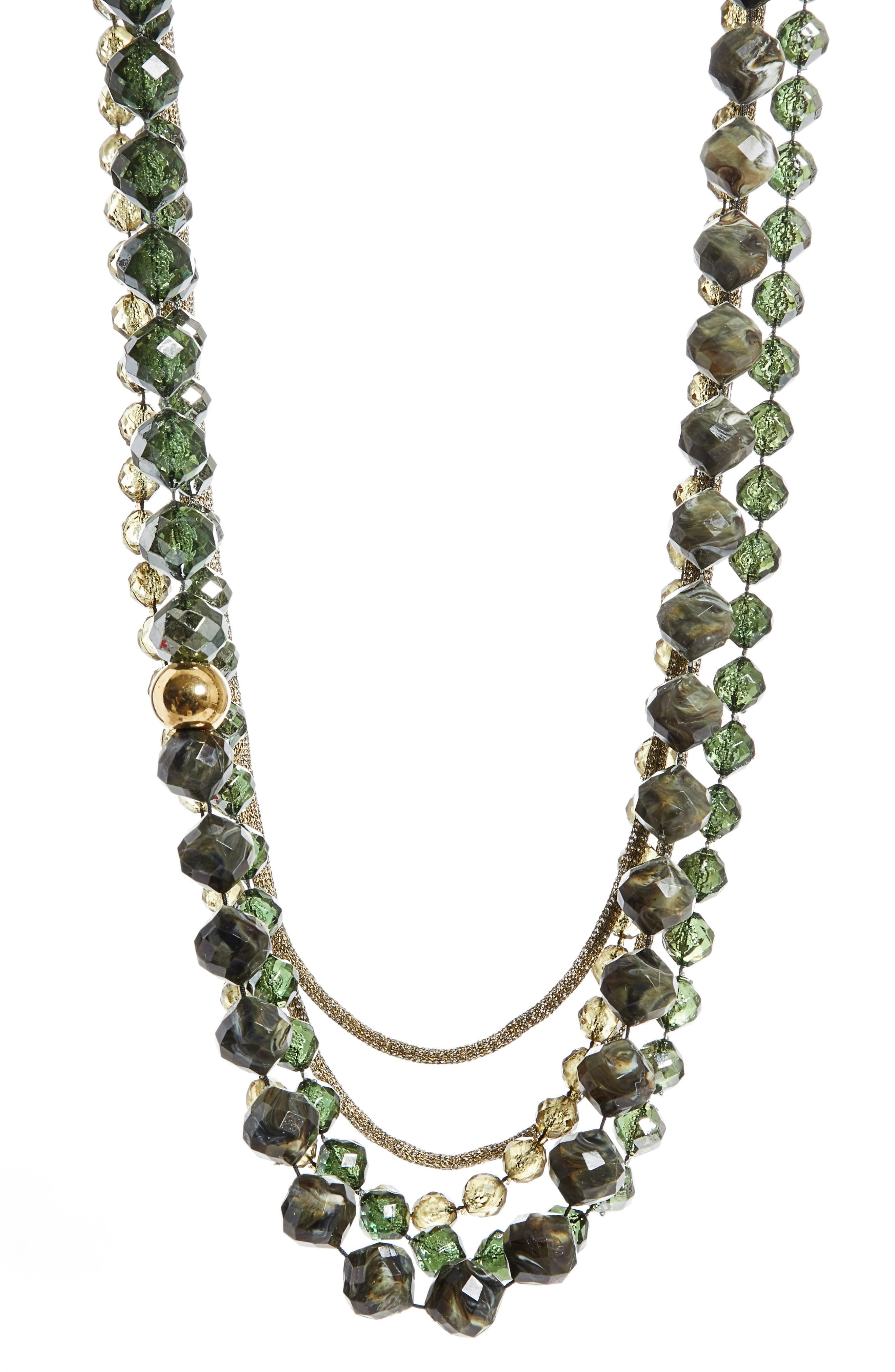 Ombré Beaded Necklace,                         Main,                         color, Tea Tree Multi