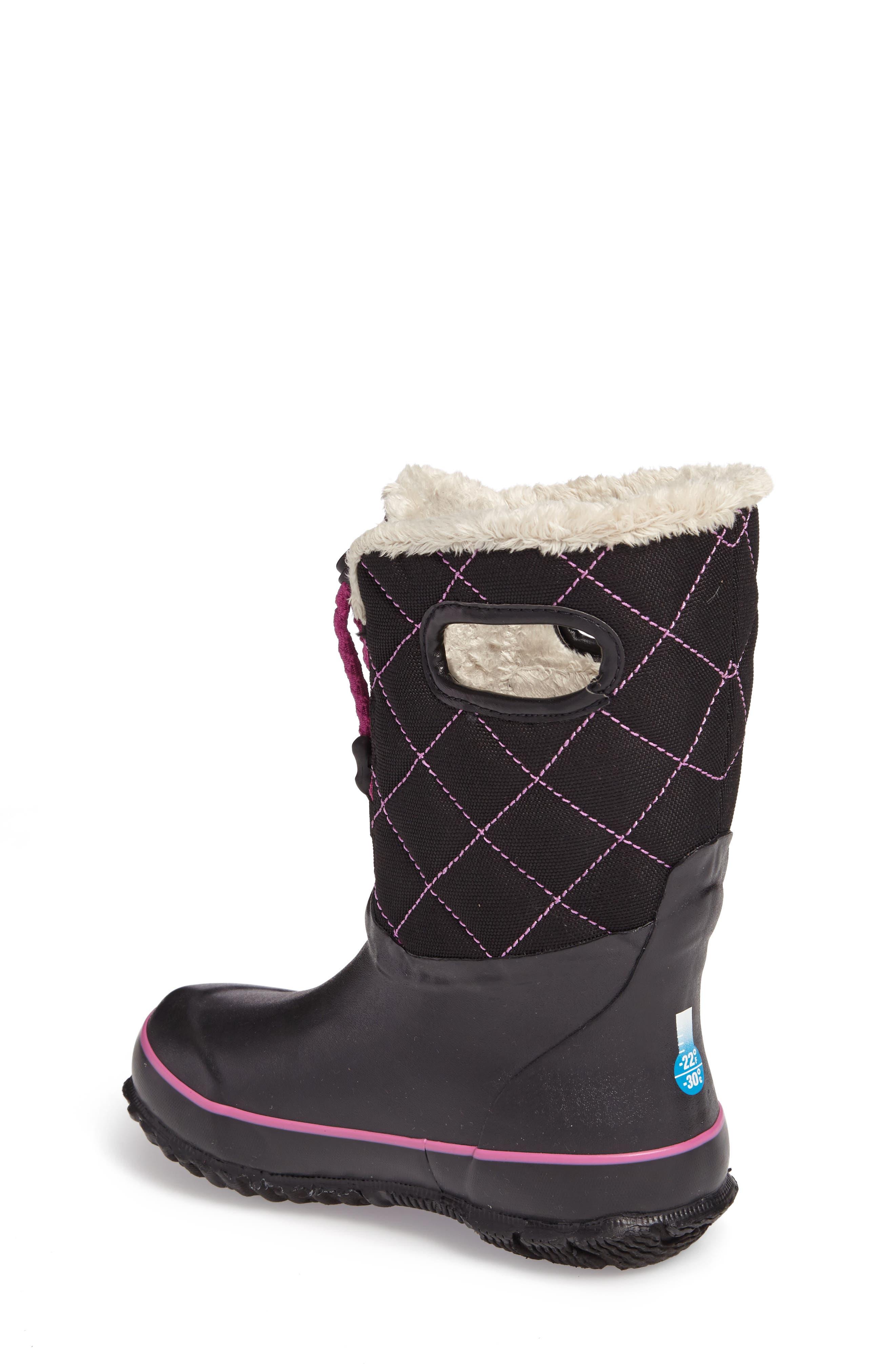 Juno Faux Fur Insulated Waterproof Boot,                             Alternate thumbnail 2, color,                             Black Multi