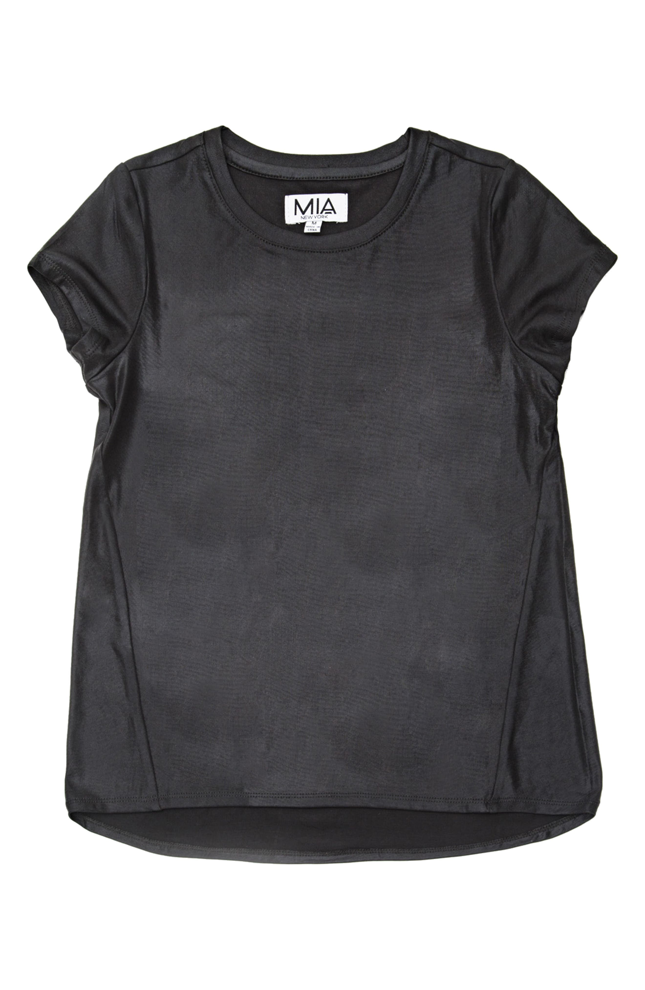 Mia New York Metallic High/Low Tee (Big Girls)