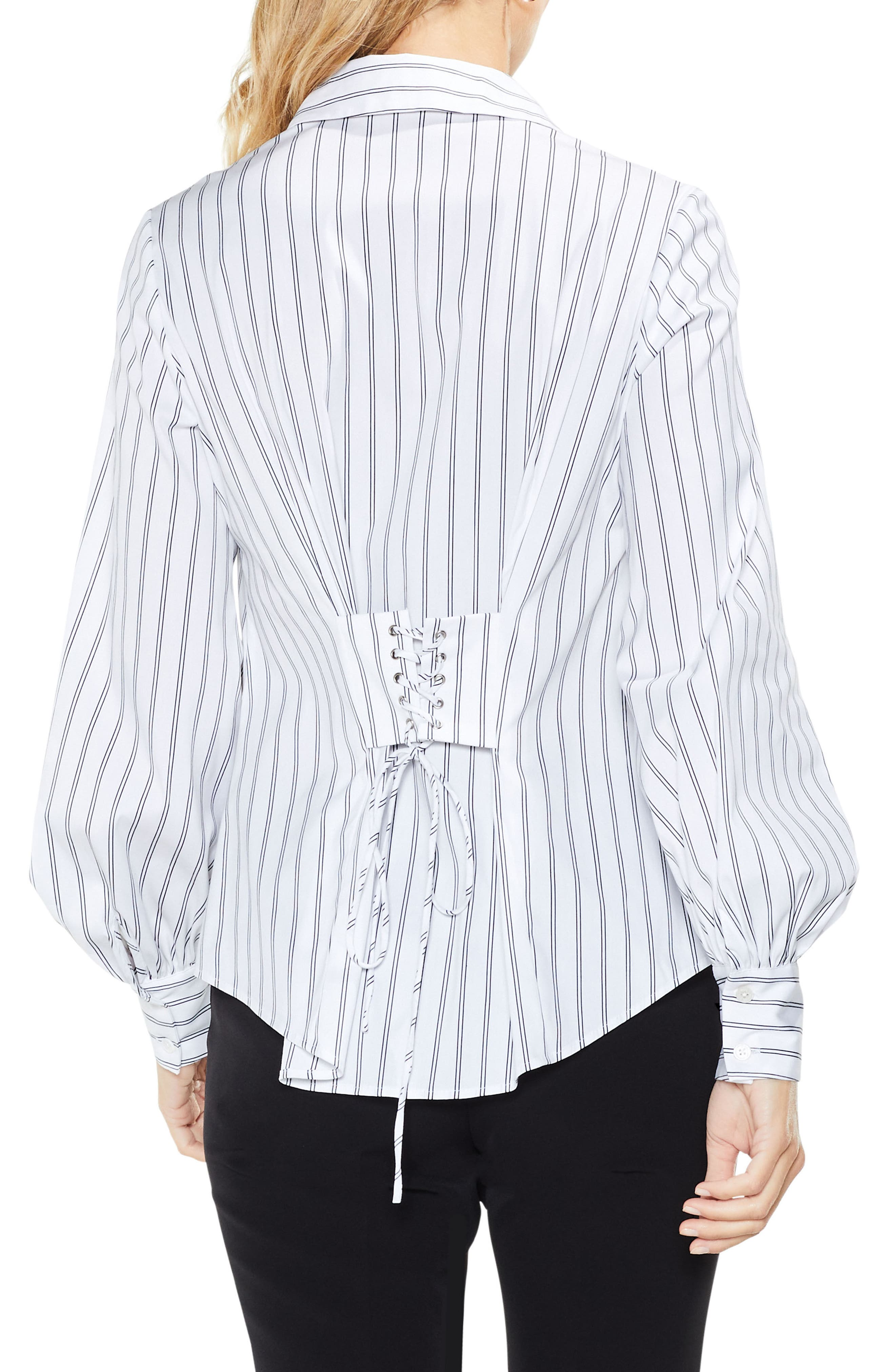 Alternate Image 3  - Vince Camuto Stripe Lace-Up Shirt