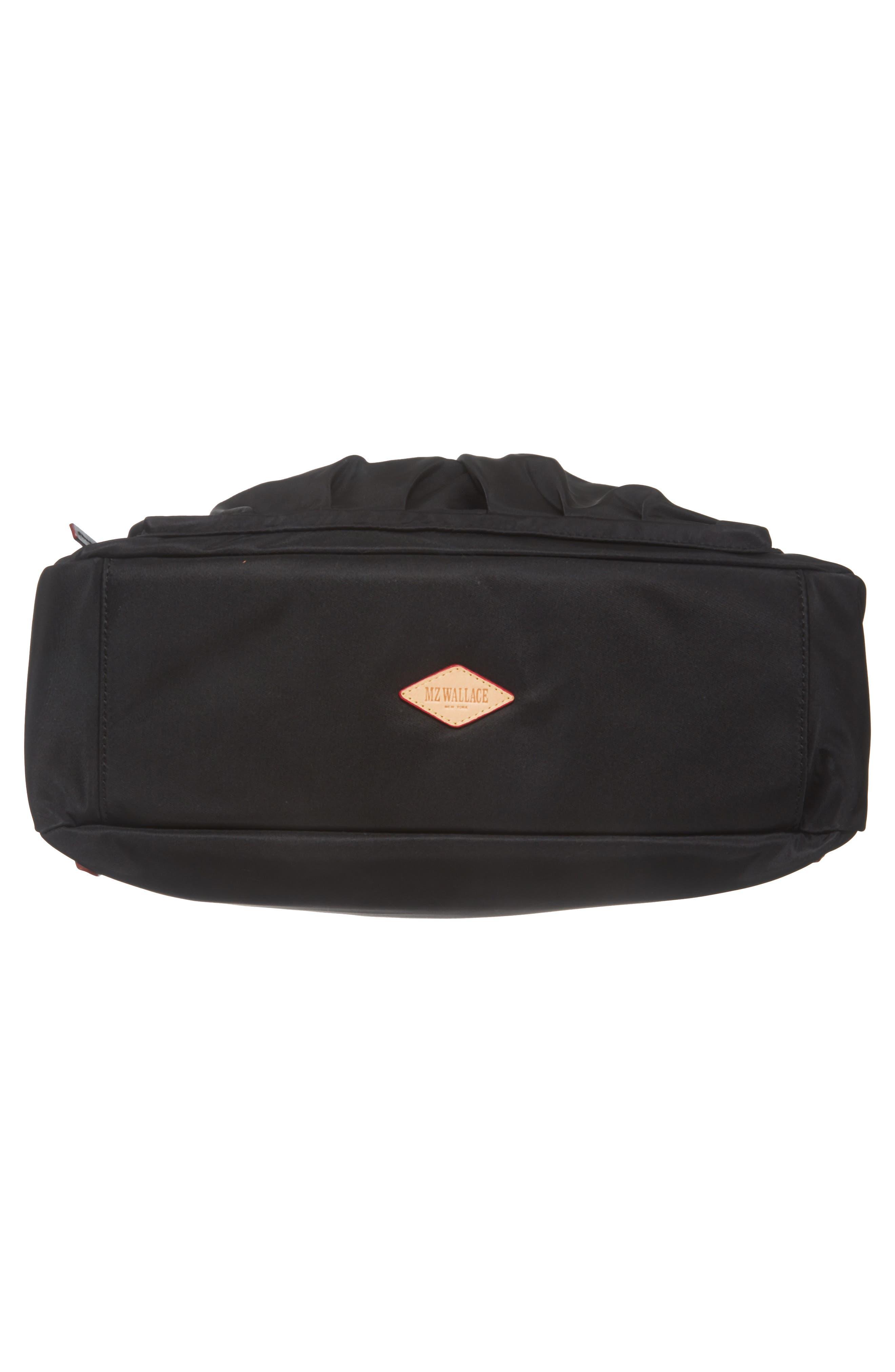 Toni Bedford Nylon Shoulder Bag,                             Alternate thumbnail 6, color,                             Black