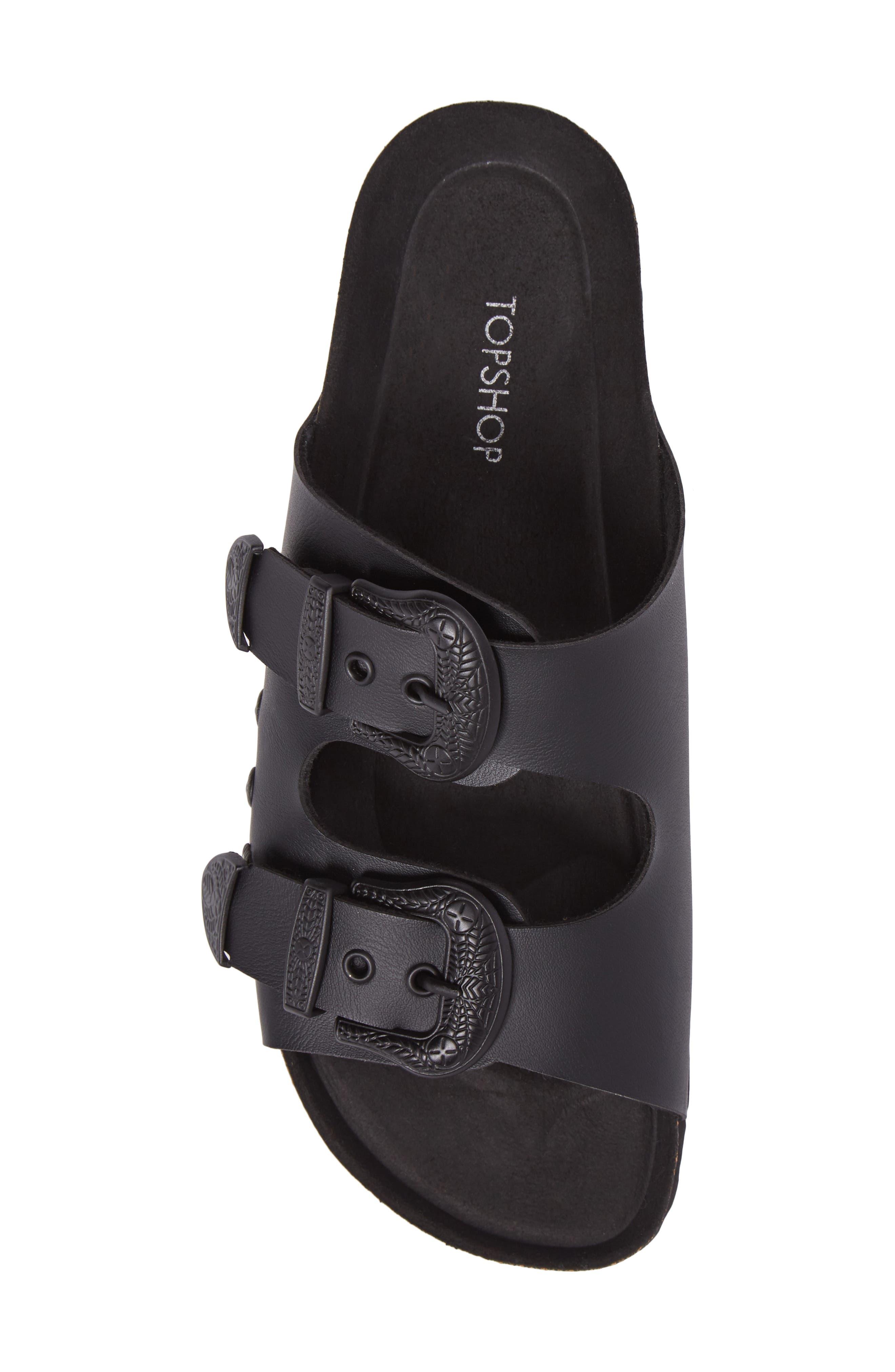 Alternate Image 5  - Topshop Studded Slide Sandal (Women)