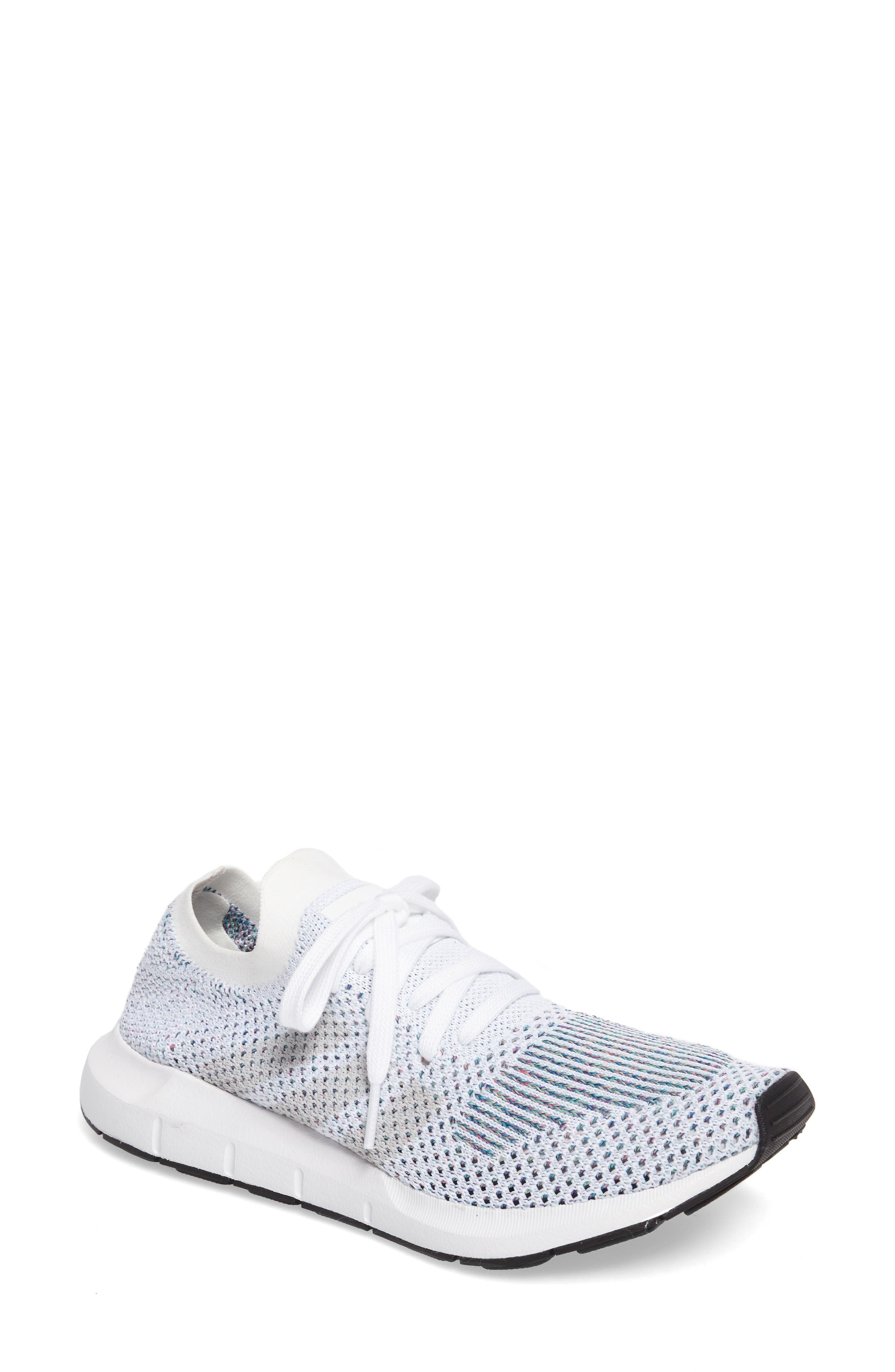 Swift Run Primeknit Training Shoe,                         Main,                         color, White/ Off White/ Core Black