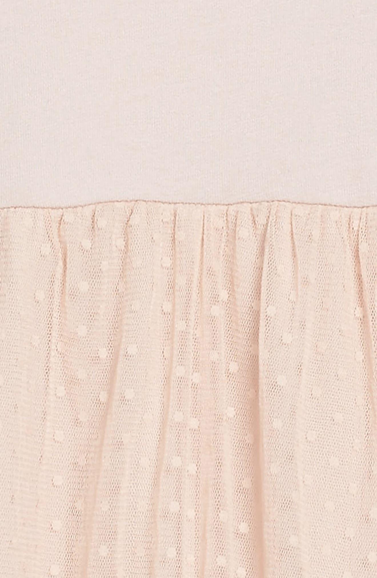 Ballerina Tulle Dress,                             Alternate thumbnail 3, color,                             Misty Rose