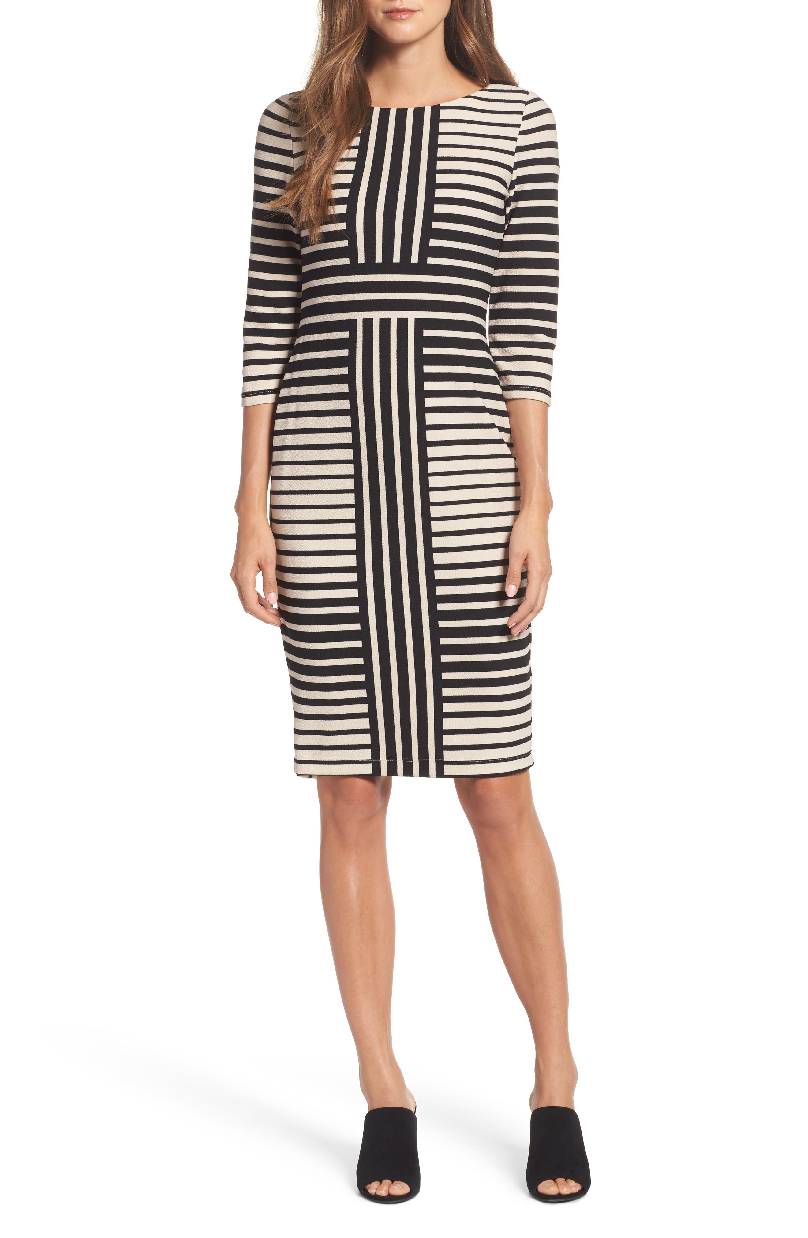 Gabby Skye Stripe Sheath Dress
