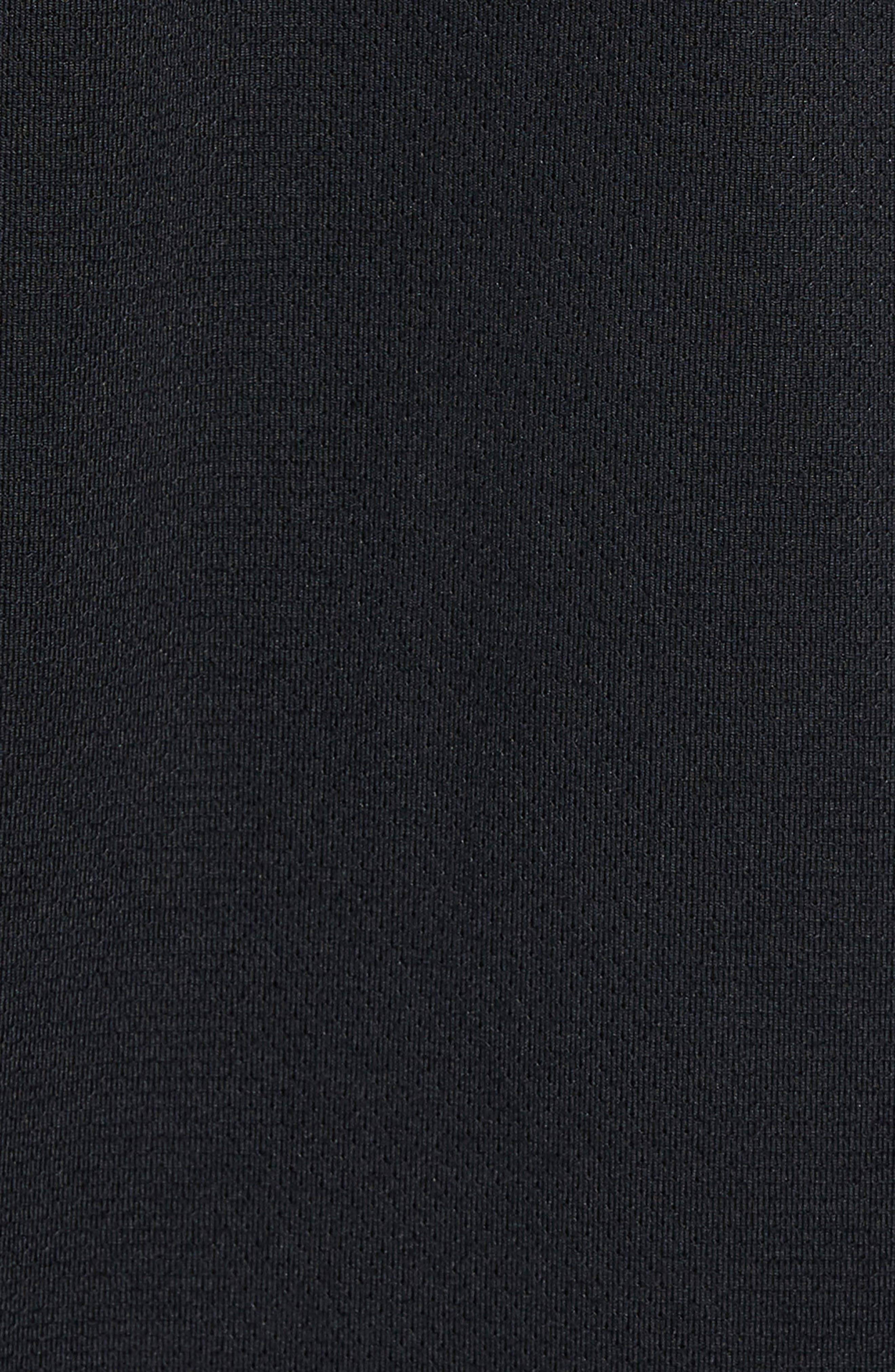 Running Dry Element Long Sleeve T-Shirt,                             Alternate thumbnail 5, color,                             Black