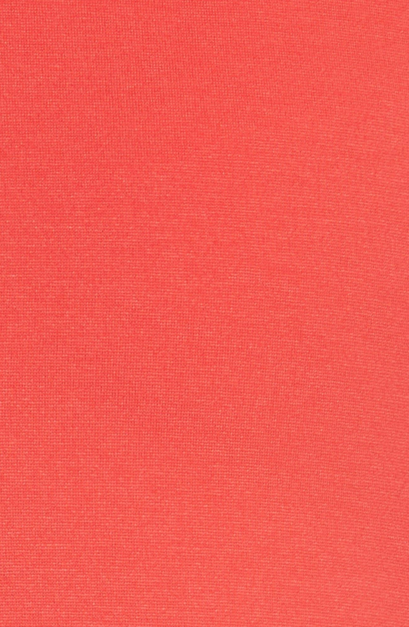 Milano Jersey Pencil Skirt,                             Alternate thumbnail 6, color,                             Solid Bright Orange