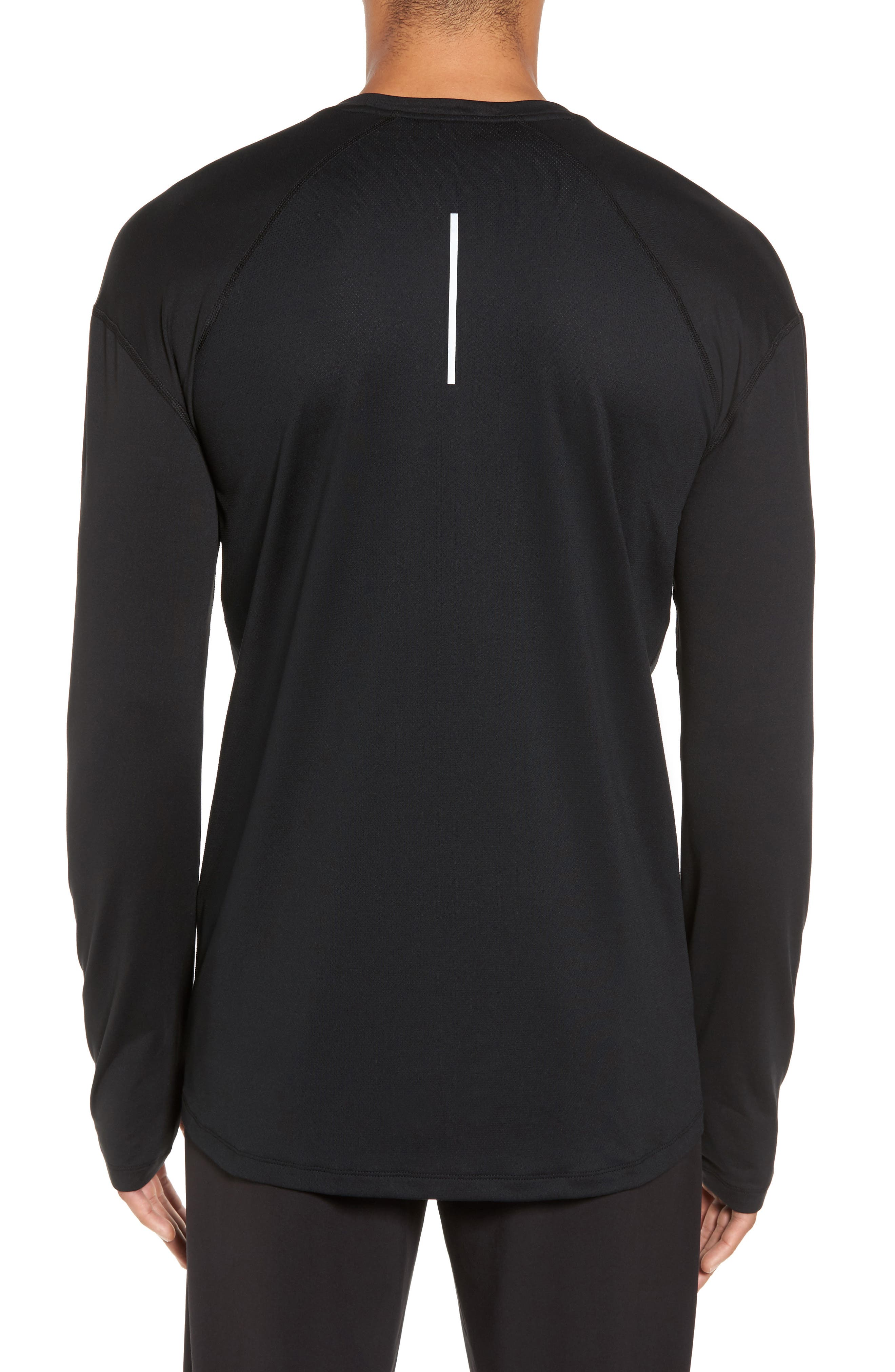 Running Dry Element Long Sleeve T-Shirt,                             Alternate thumbnail 2, color,                             Black