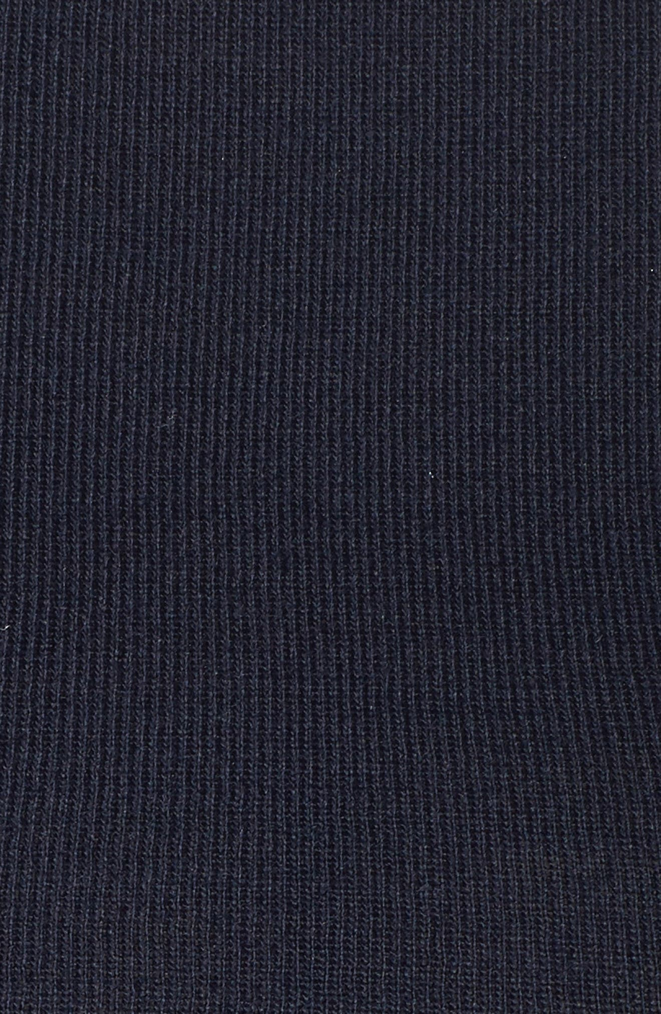 Smocked Chiffon Contrast Sweater,                             Alternate thumbnail 5, color,                             Navy