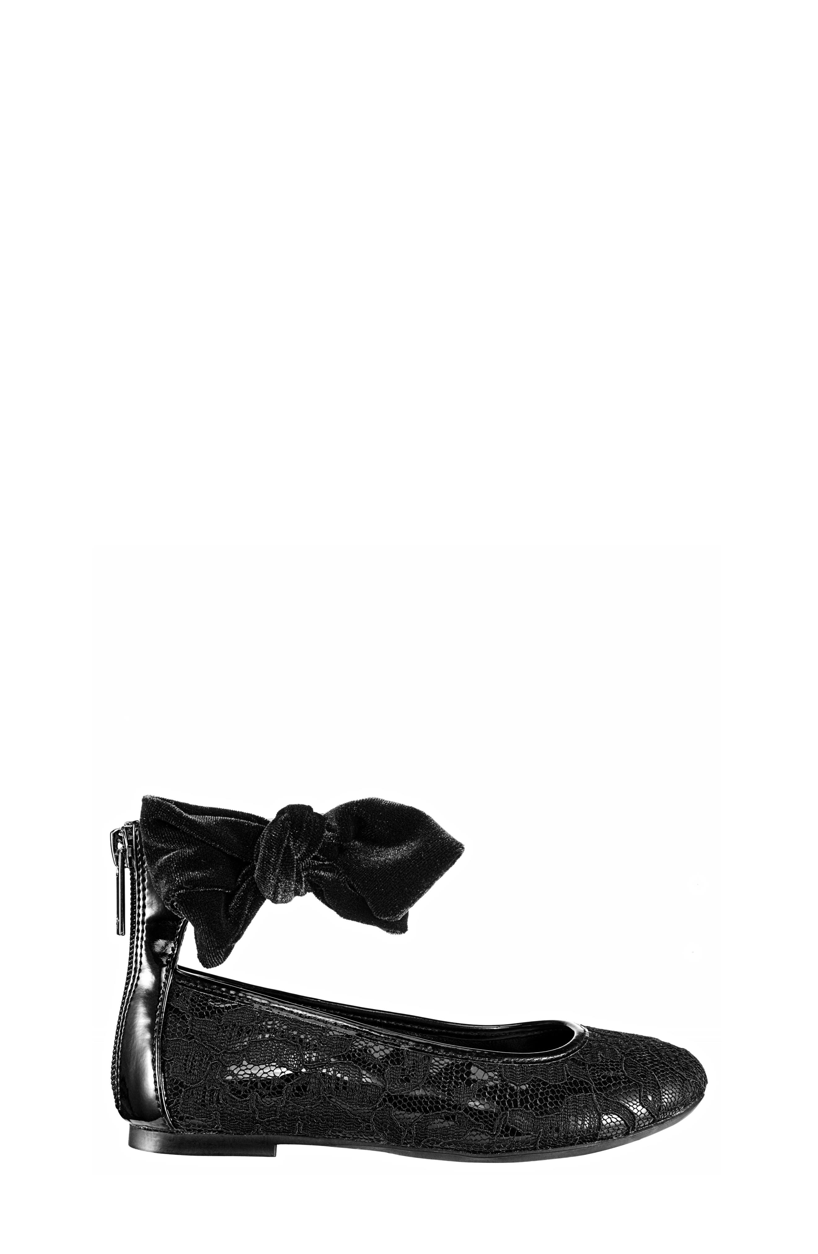 Alternate Image 3  - Nina Maribeth Ankle Wrap Lace Ballet Flat (Little Kid & Big Kid)