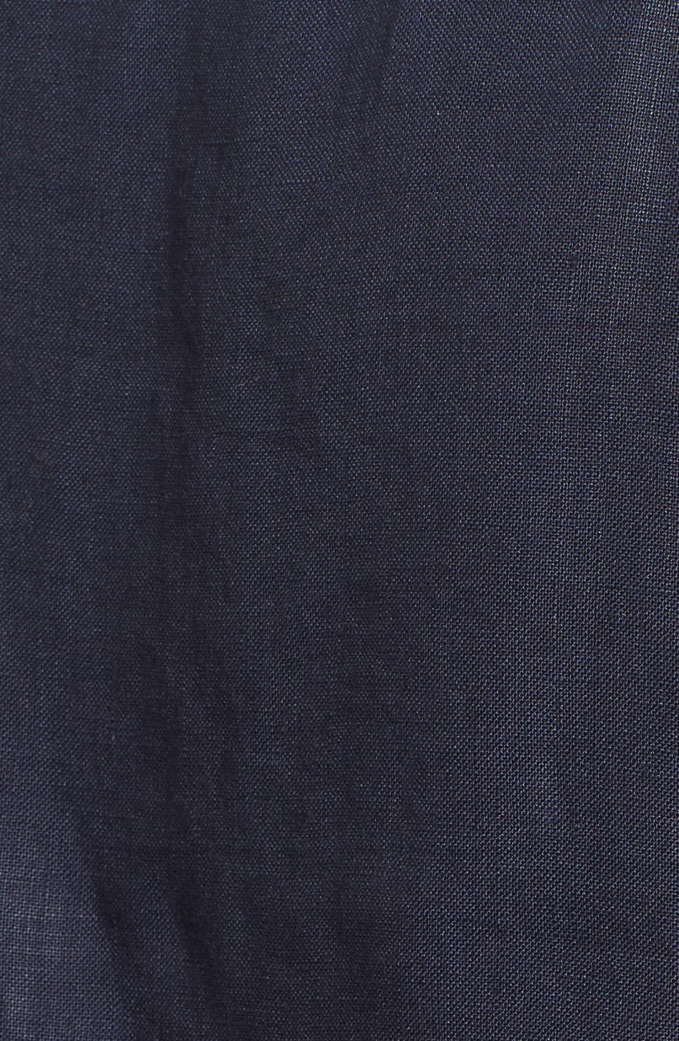 Ruched Sleeve Linen Pullover,                             Alternate thumbnail 5, color,                             Navy Peacoat
