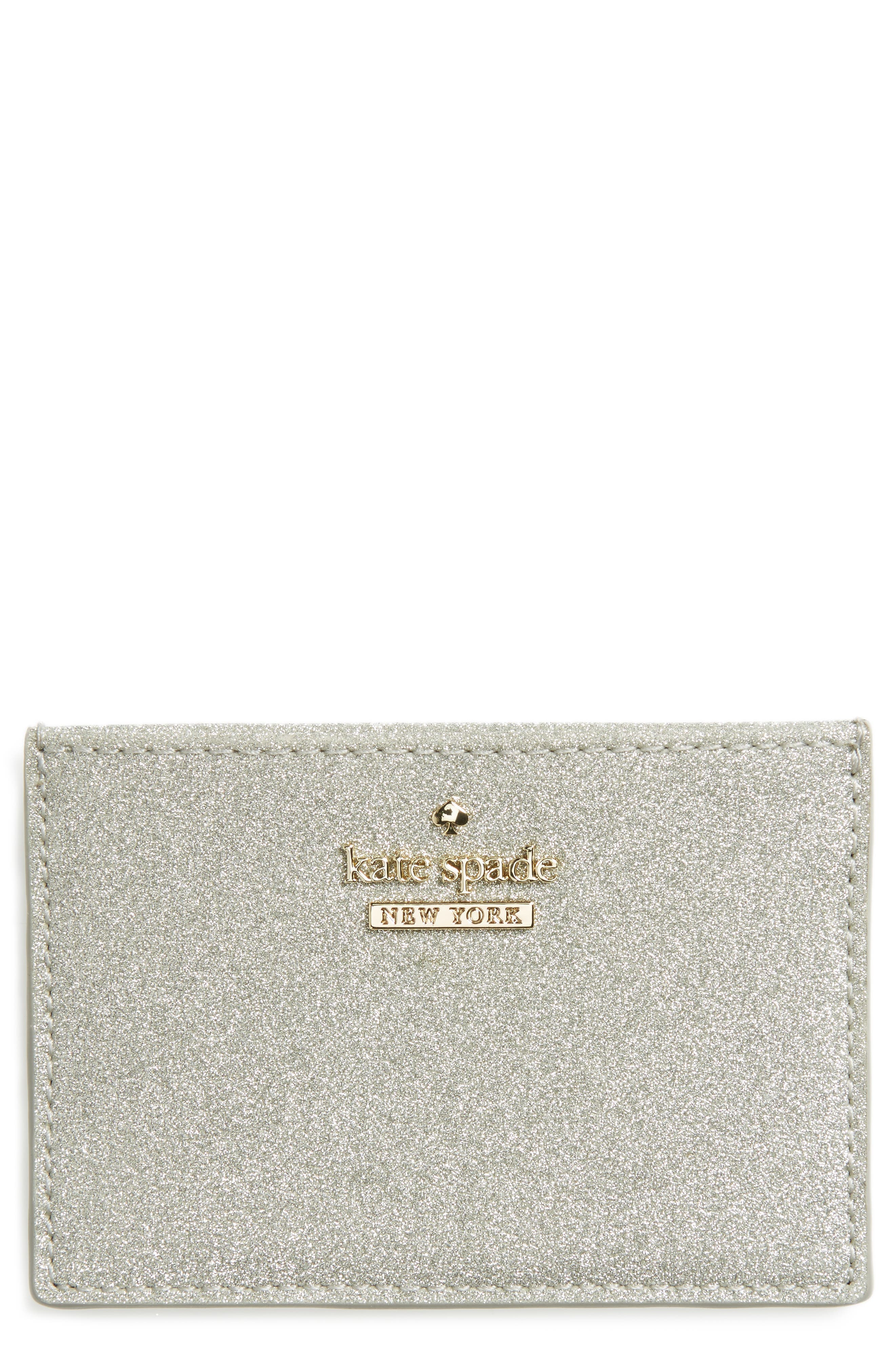 kate spade new york burgess court glitter card holder