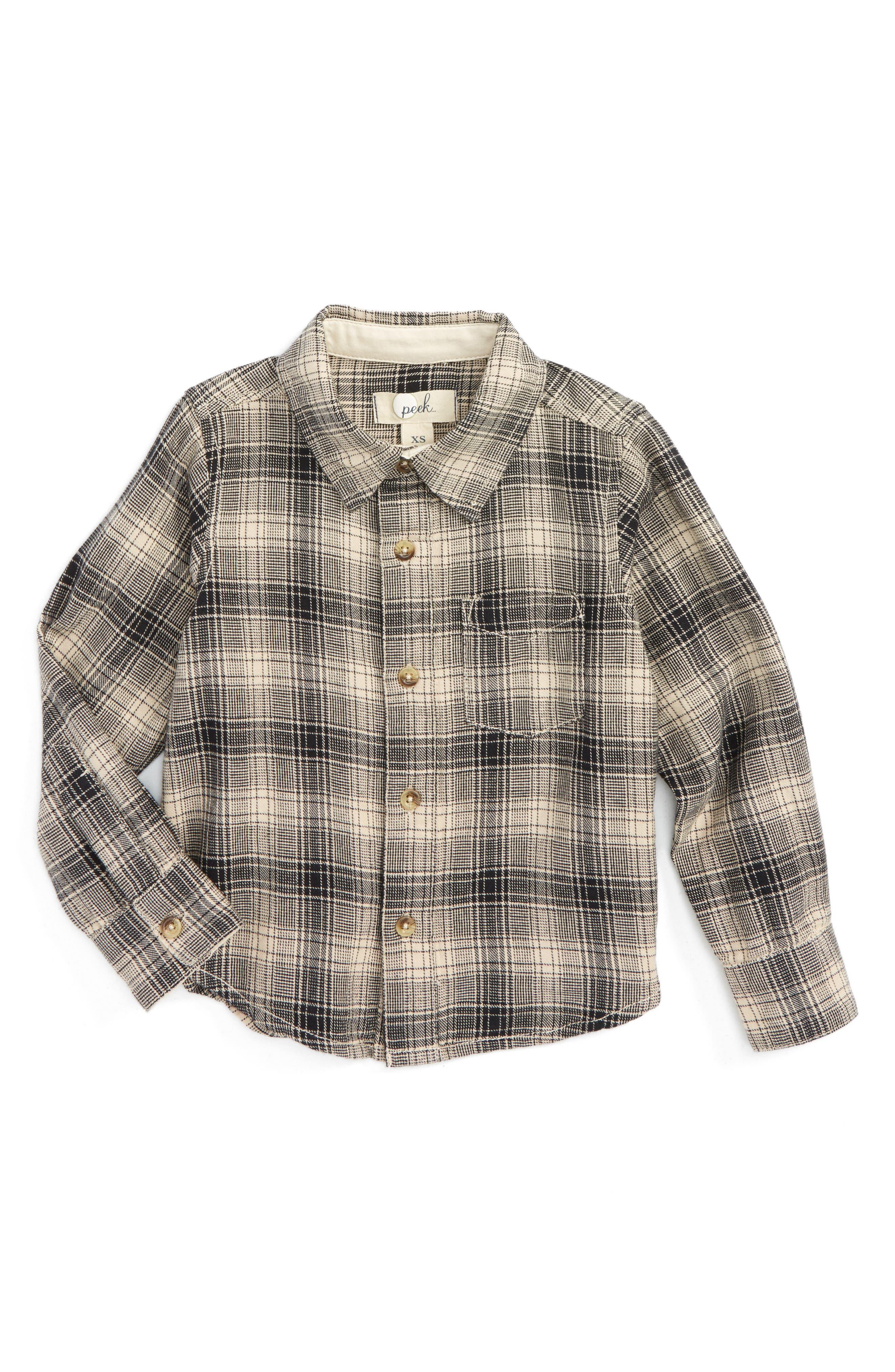 Peek Mase Plaid Shirt (Toddler Boys, Little Boys & Big Boys)