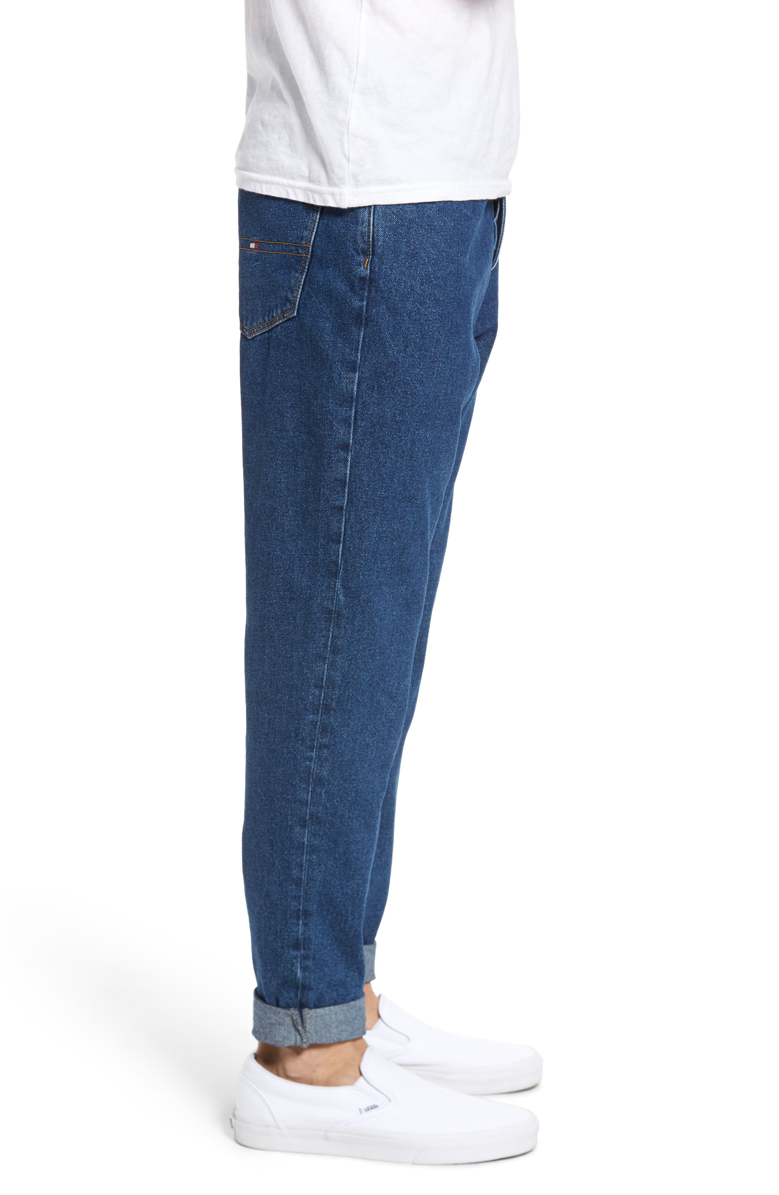 90s Classic Straight Leg Jeans,                             Alternate thumbnail 3, color,                             Denim Blue