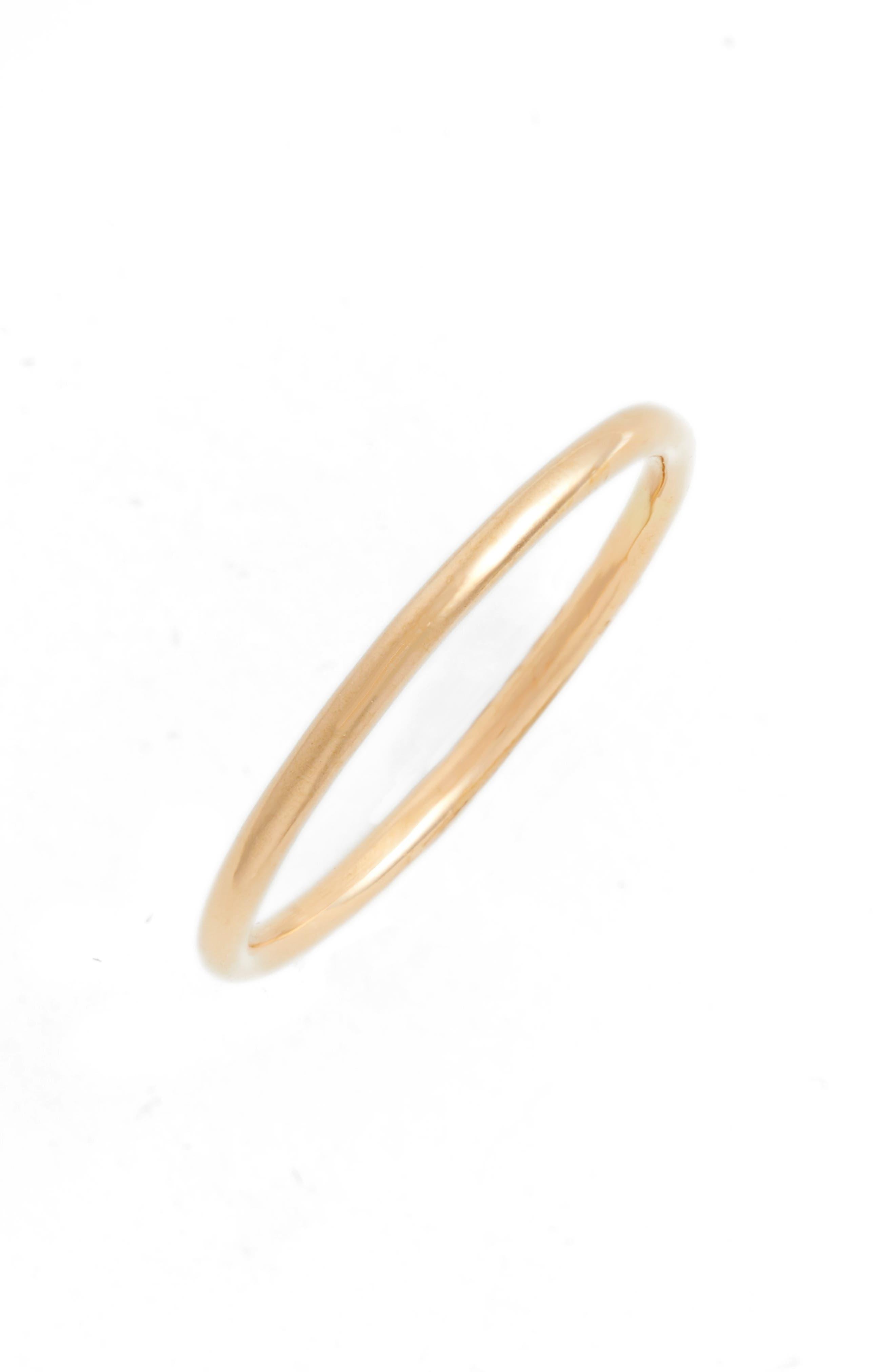 Medium Stacking Ring,                         Main,                         color, Yellow Gold
