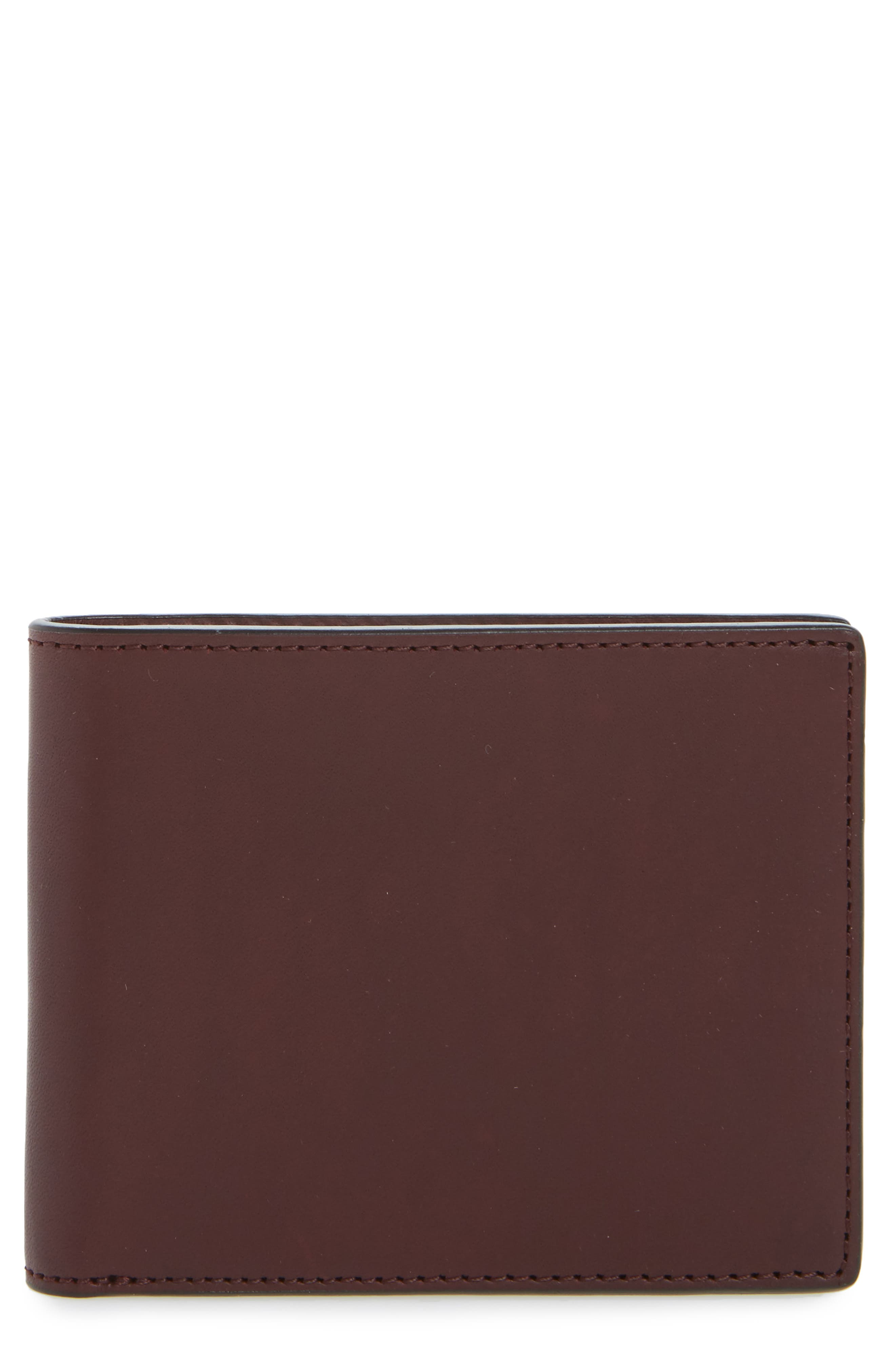 Hampshire Bifold Leather Wallet,                             Main thumbnail 1, color,                             Ox Blood