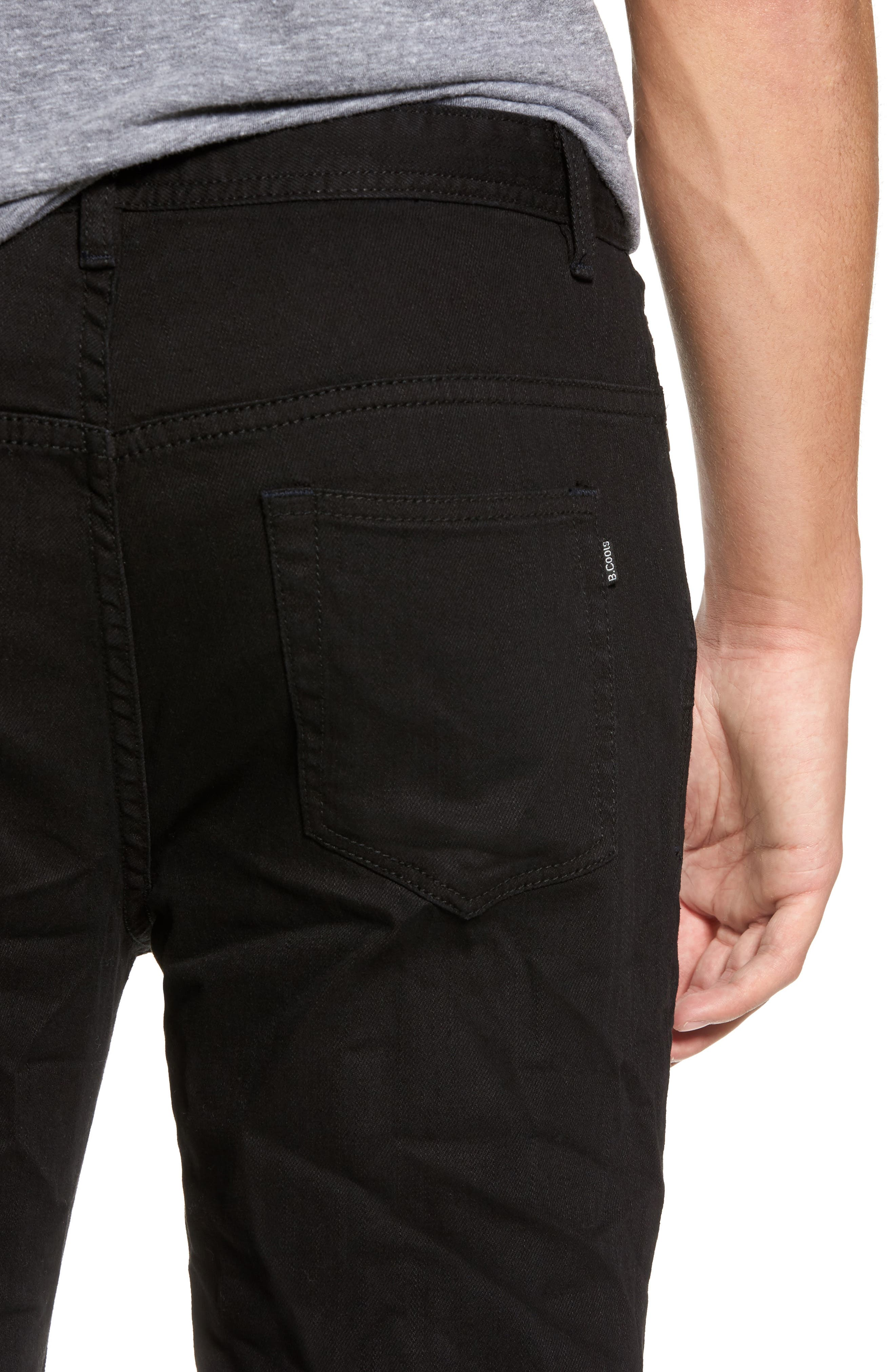 B.Line Crop Slim Fit Jeans,                             Alternate thumbnail 4, color,                             Washed Black