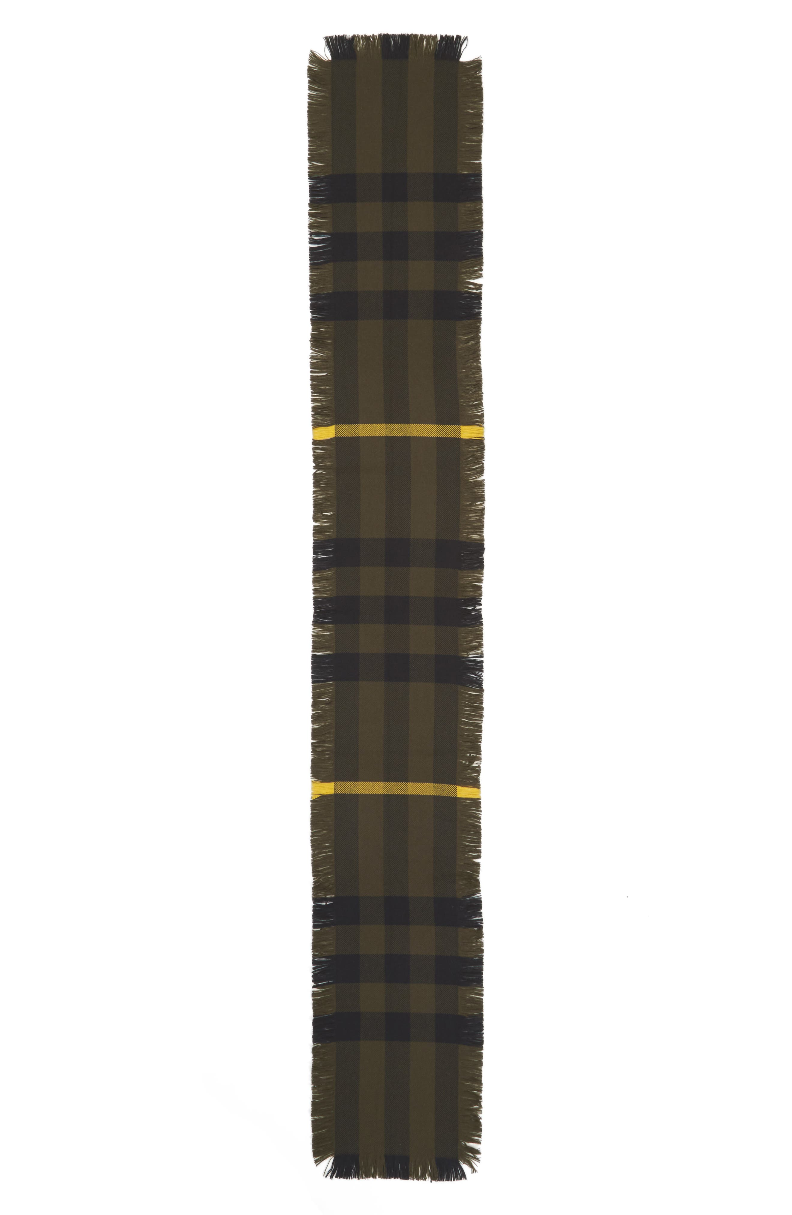 Alternate Image 2  - Burberry Half Mega Fashion Wool Fringe Scarf