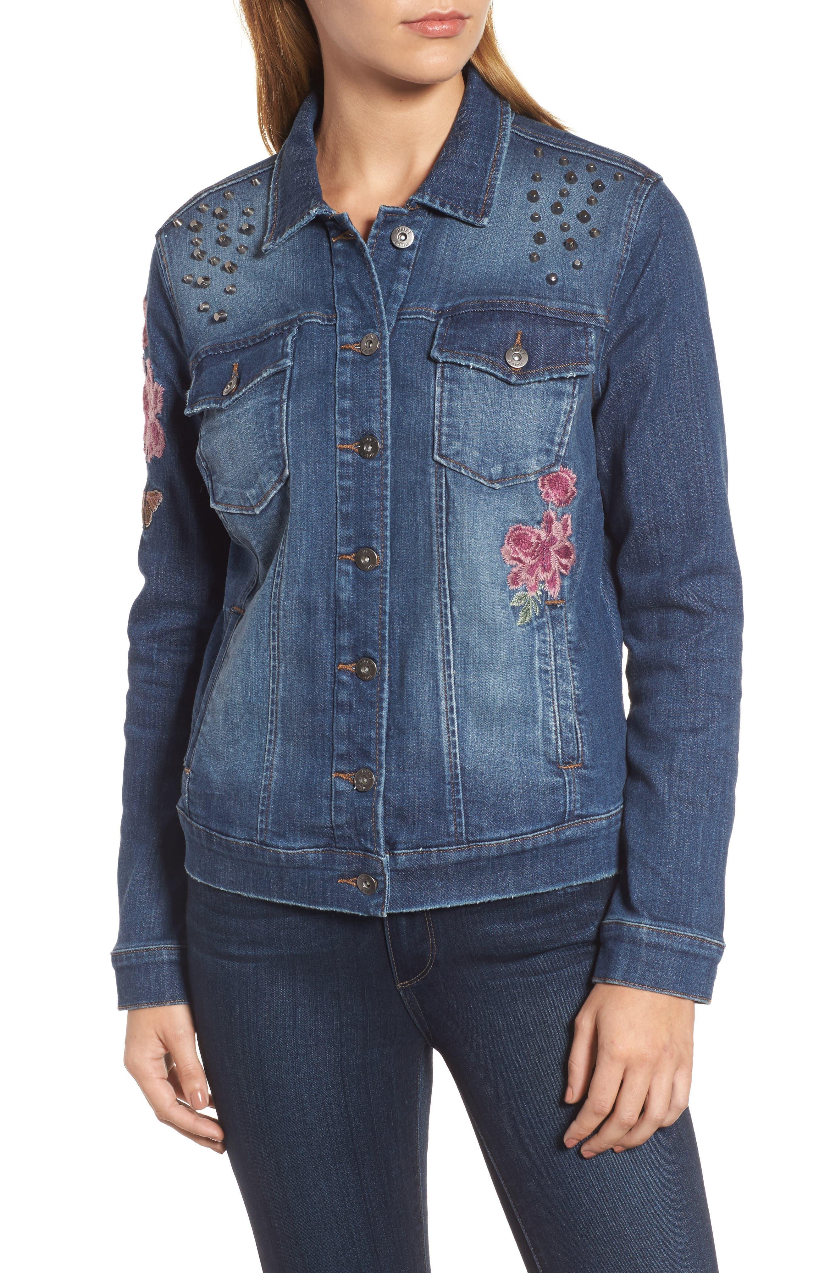 Alternate Image 4  - Billy T Embroidered Denim Jacket