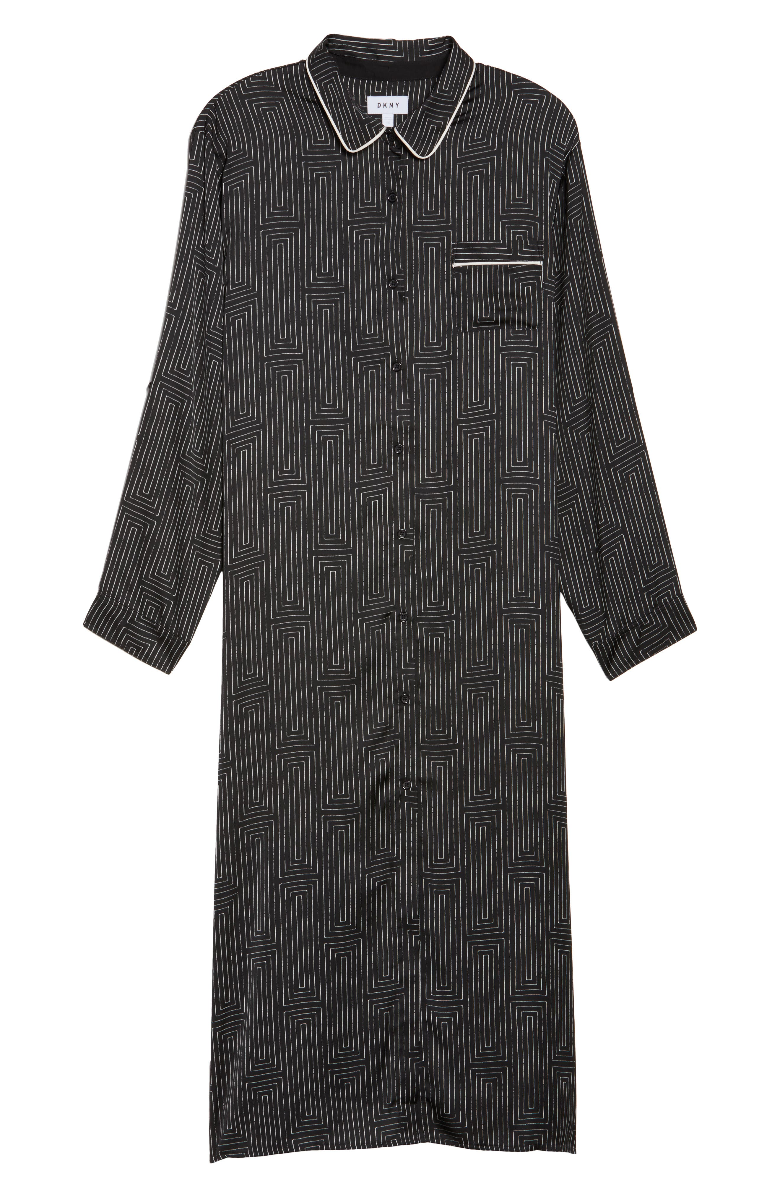 Alternate Image 6  - DKNY Washed Satin Maxi Sleep Shirt (Plus Size)