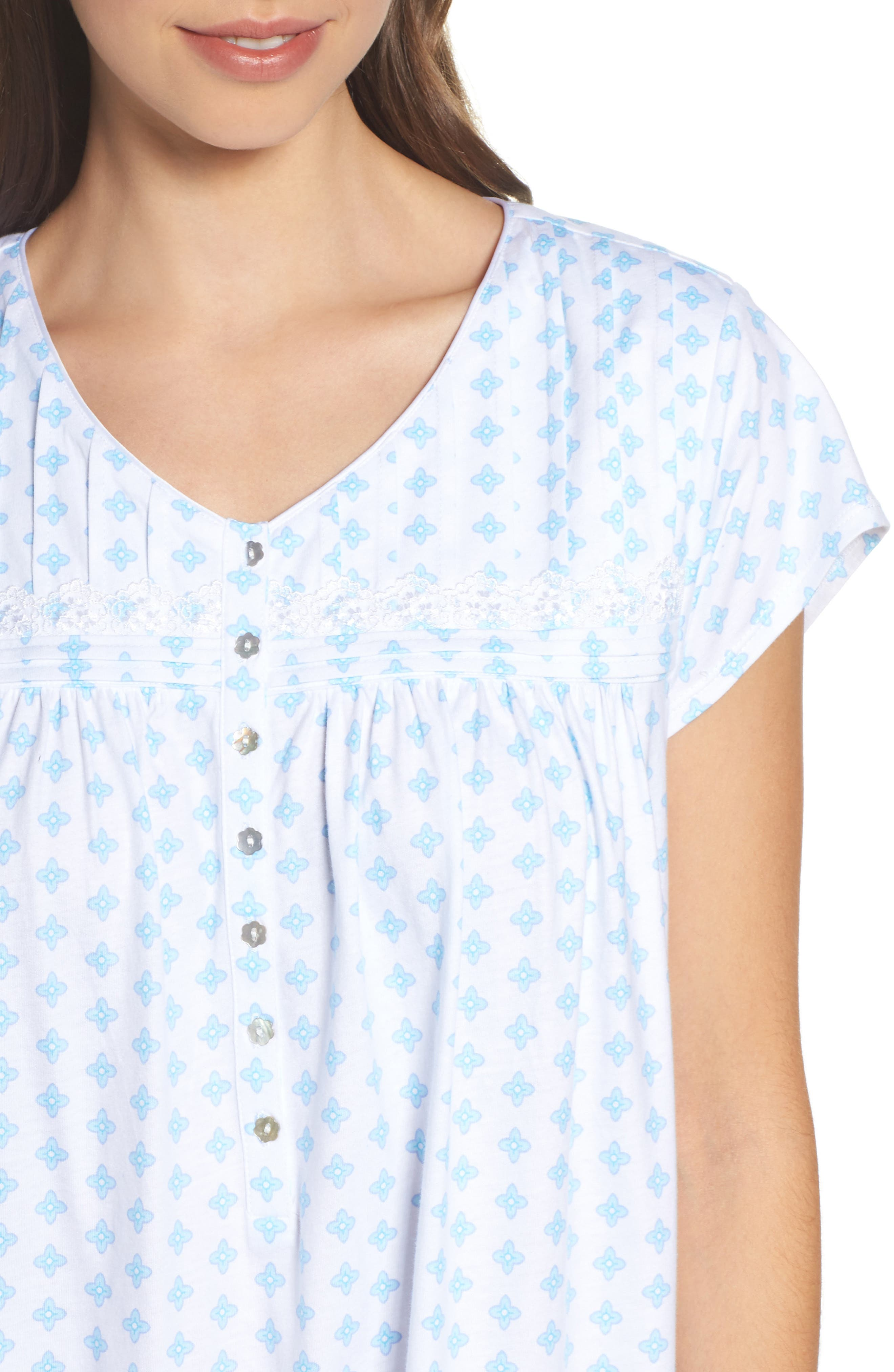 Short Nightgown,                             Alternate thumbnail 5, color,                             Blue Geo