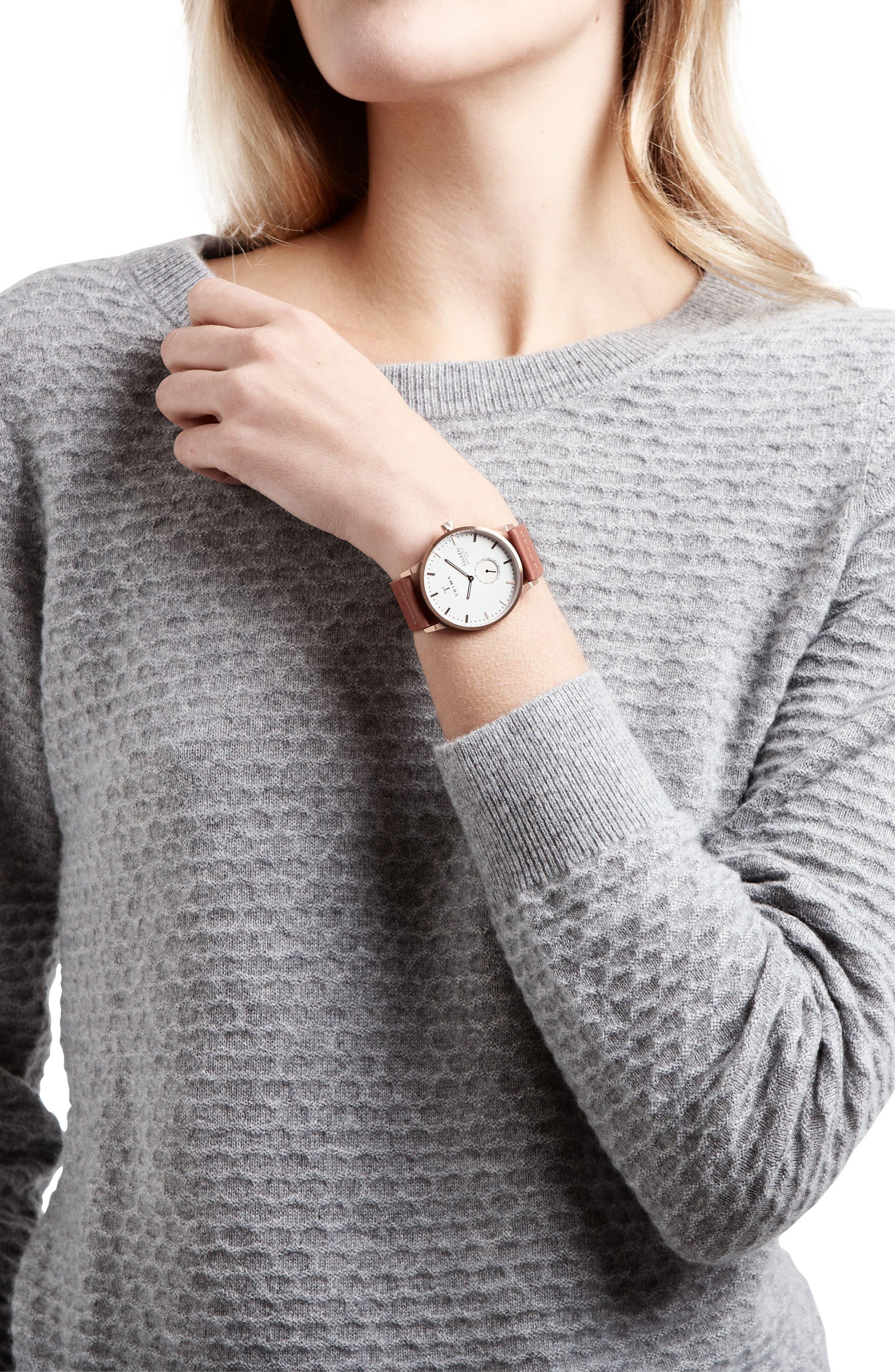 Alternate Image 3  - TRIWA Falken Organic Leather Strap Watch, 38mm