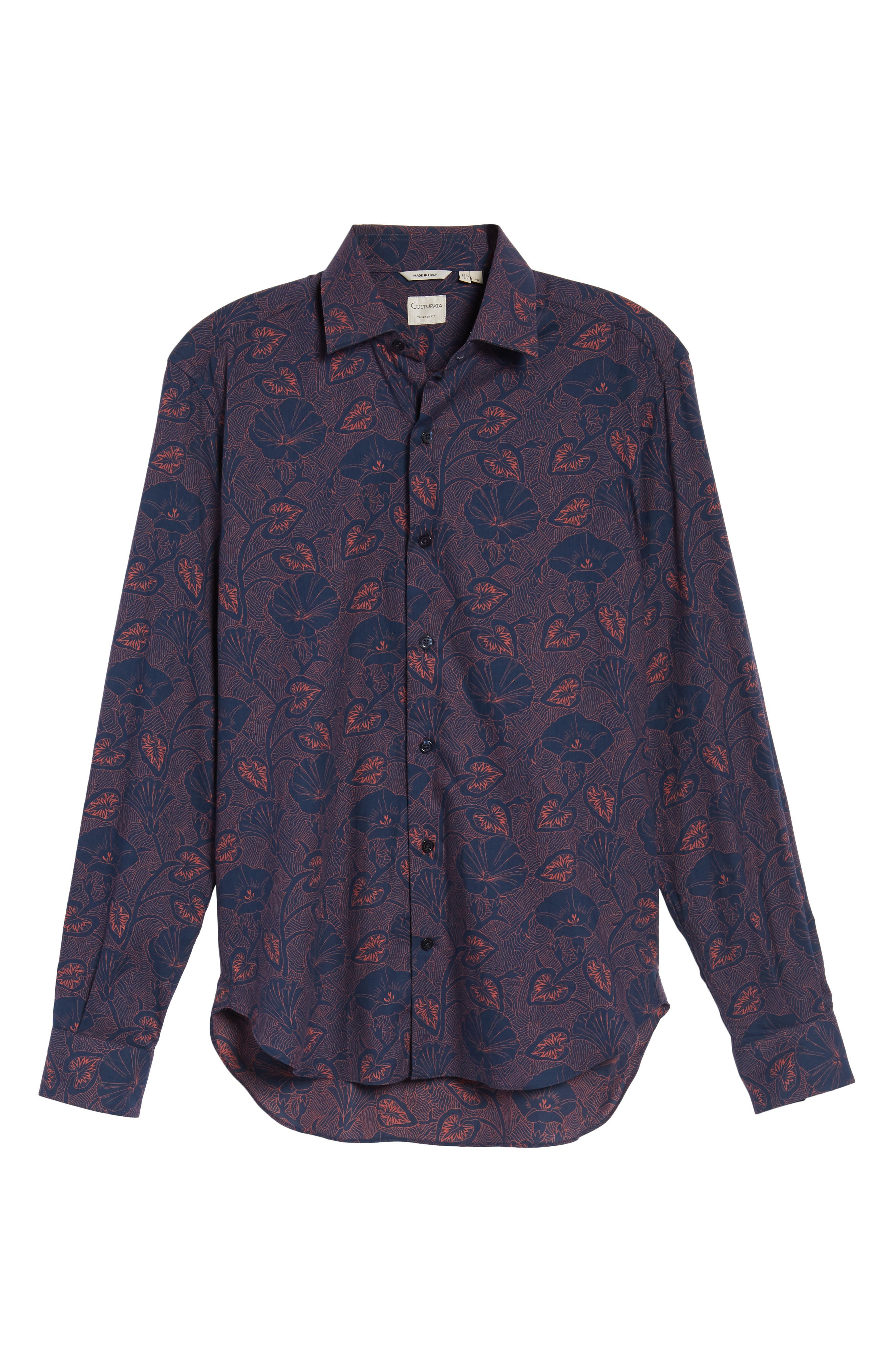 Alternate Image 6  - Culturata Floral Twill Sport Shirt