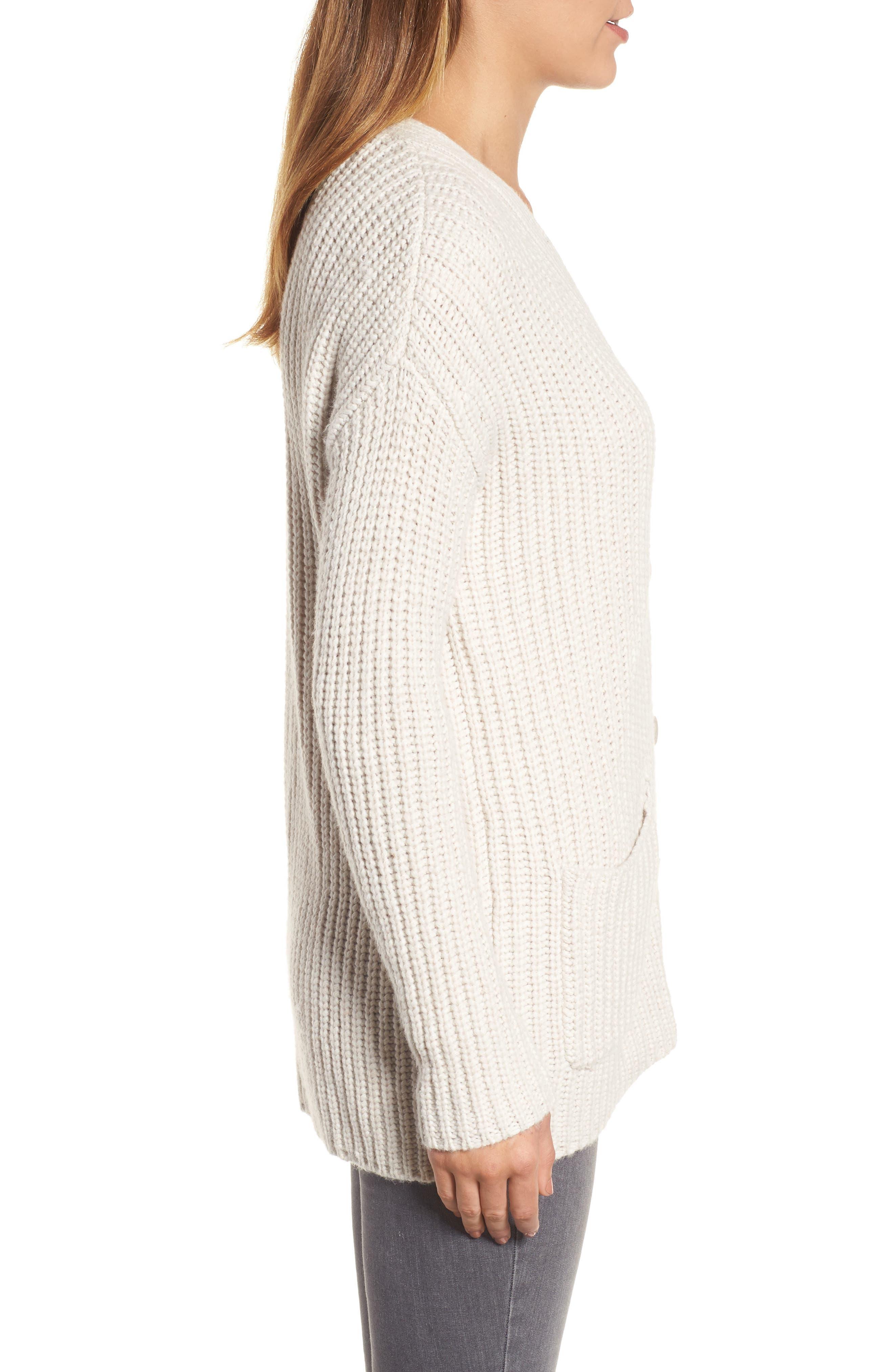 Alternate Image 3  - Velvet by Graham & Spencer Textured Button Cardigan