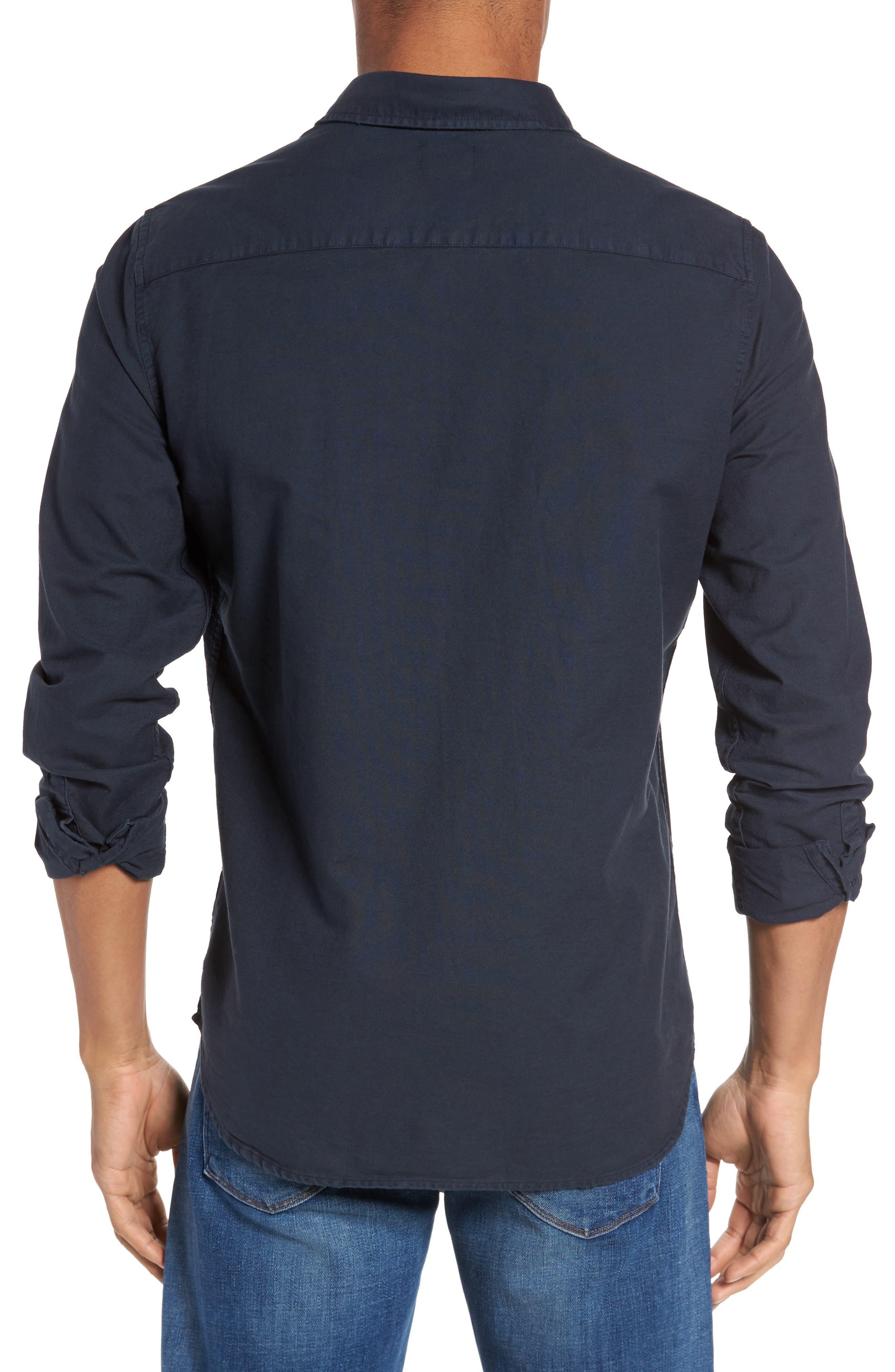 Alternate Image 2  - AG Caleb Slim Fit Twill Sport Shirt