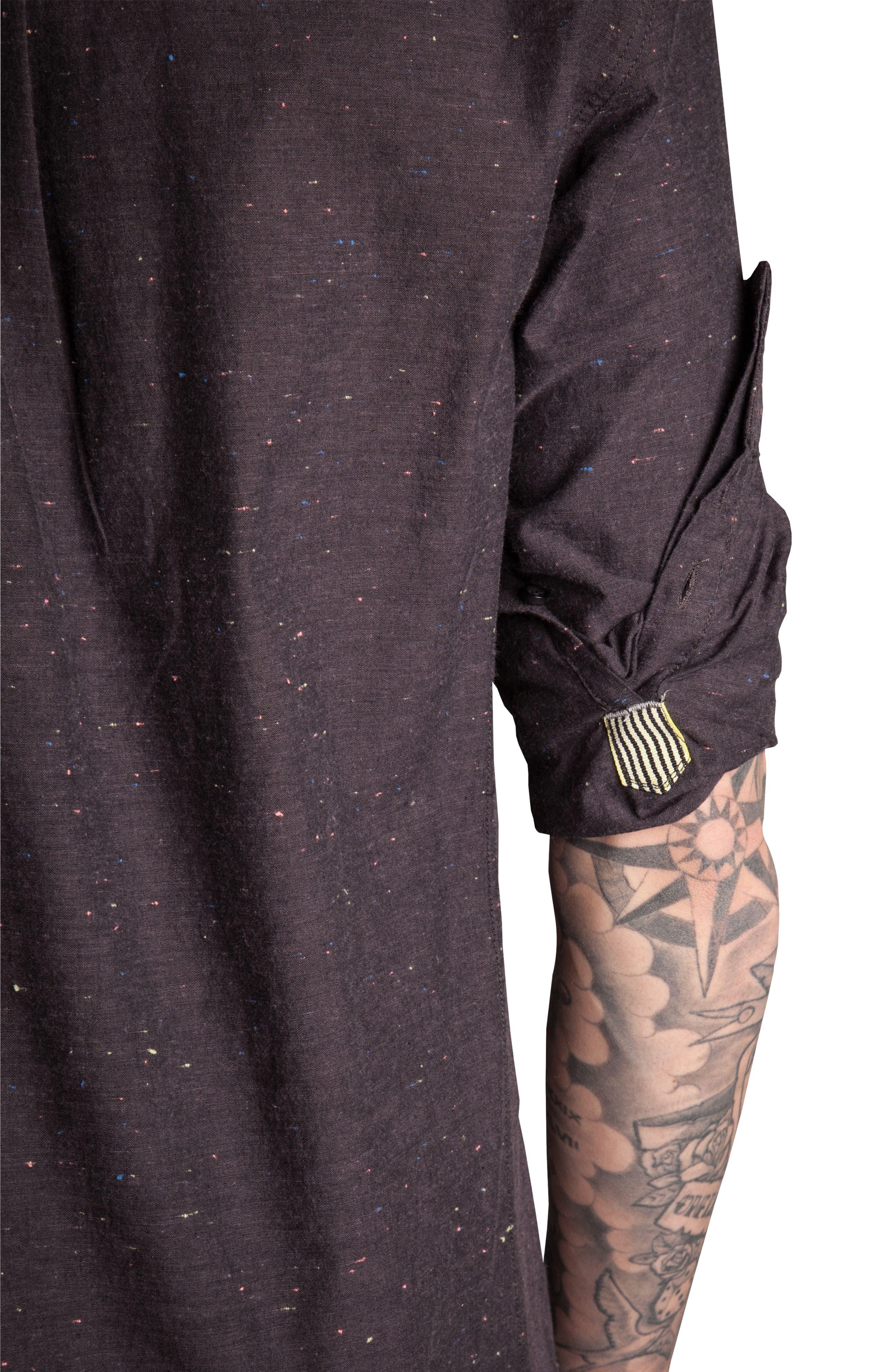 Base Speck Sport Shirt,                             Alternate thumbnail 3, color,                             Charcoal
