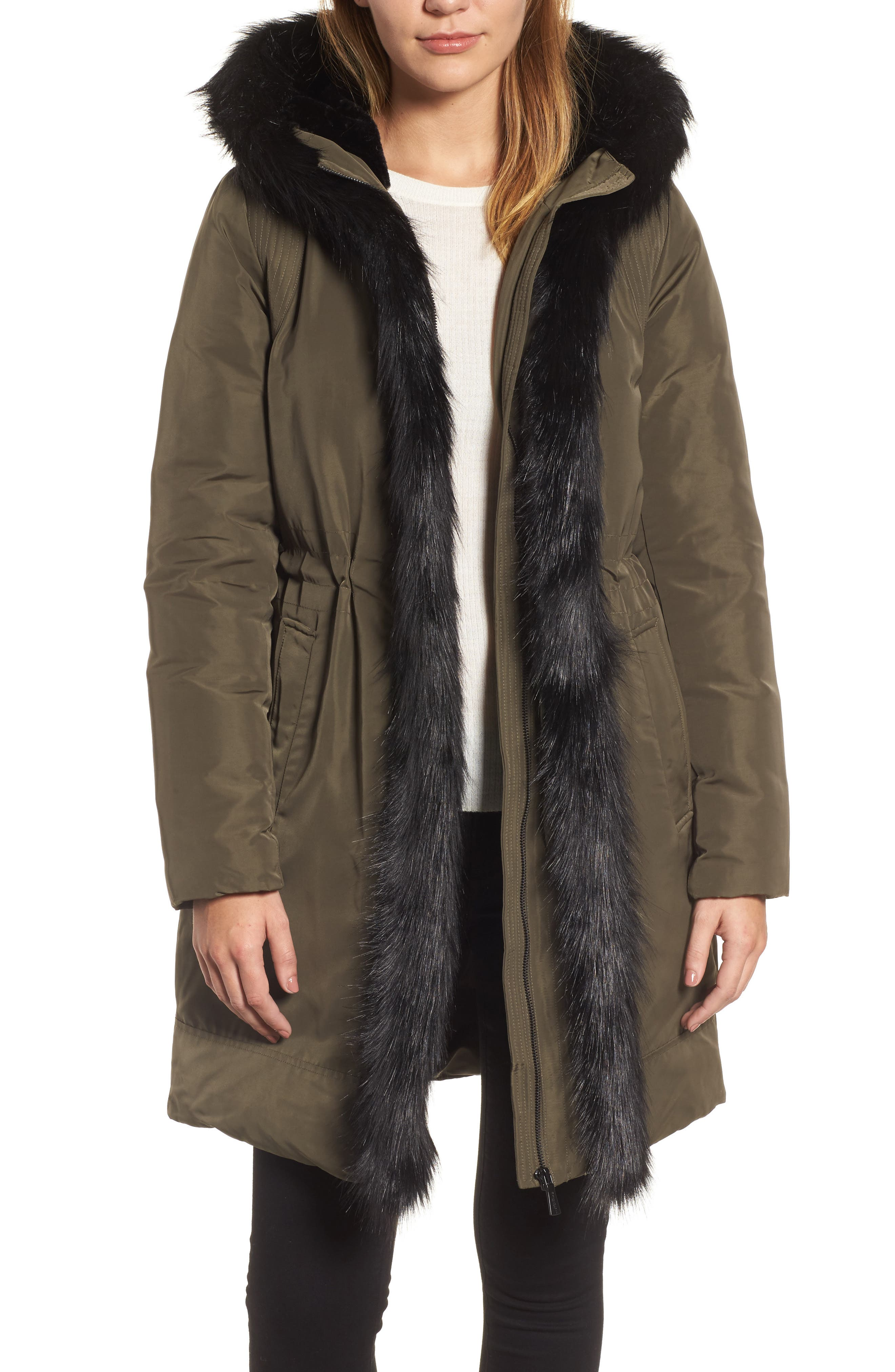Alternate Image 1 Selected - DKNY Prato Faux Fur Trim Down Parka