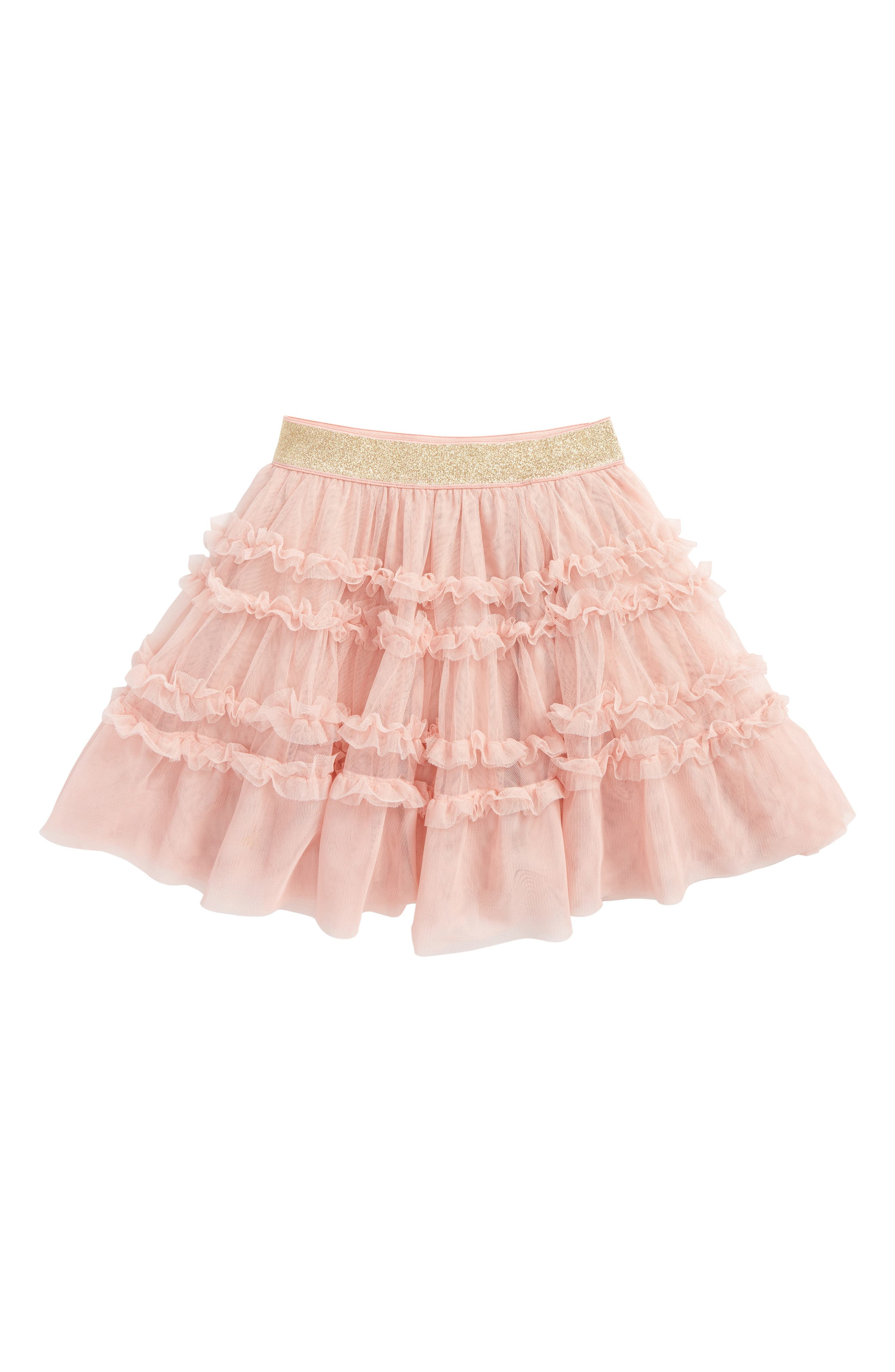 Ruffle Tulle Skirt,                         Main,                         color, Provence Dusty Pink Pnk