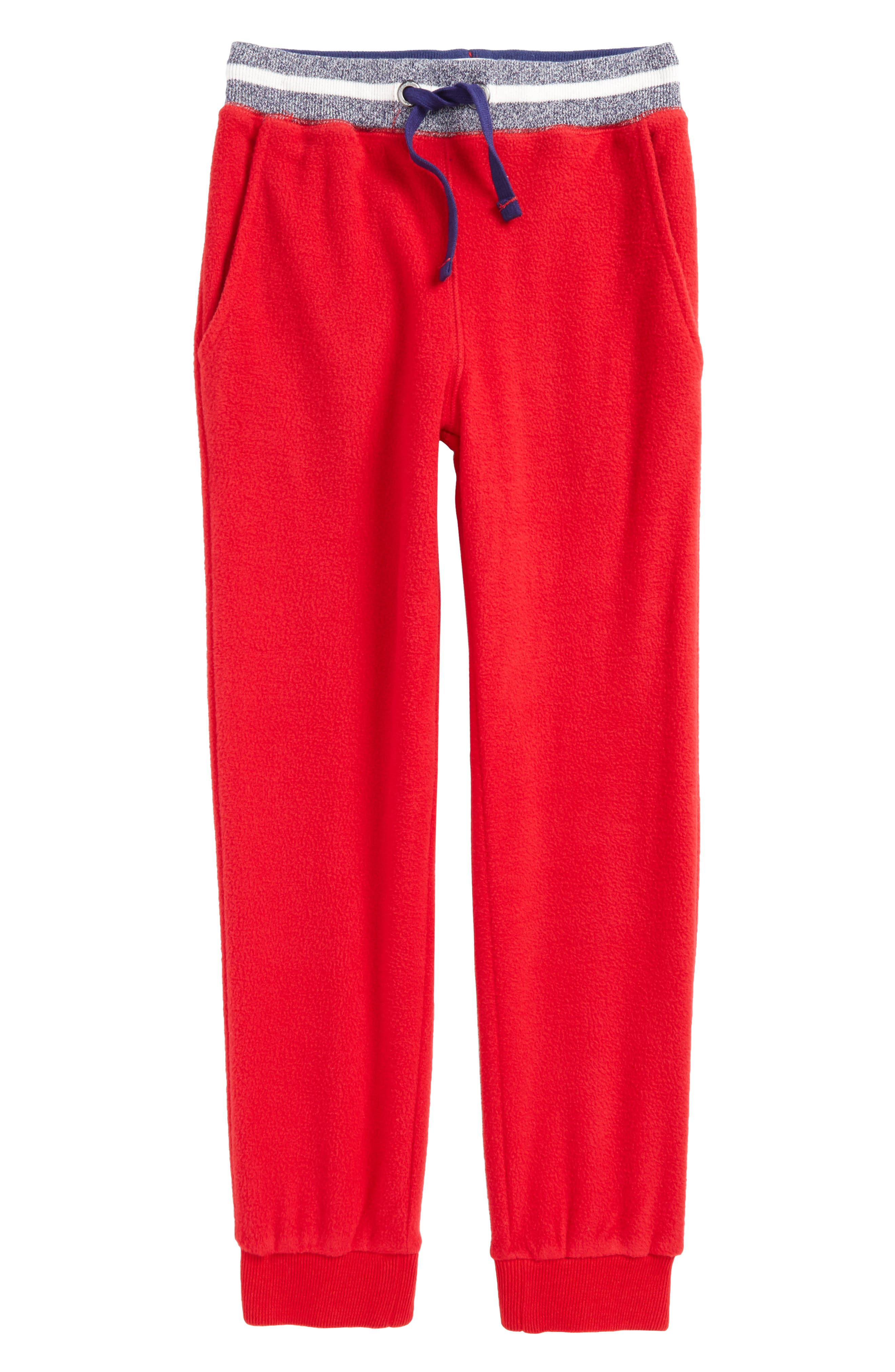 Main Image - Mini Boden Microfleece Jogger Pants (Toddler Boys, Little Boys & Big Boys)