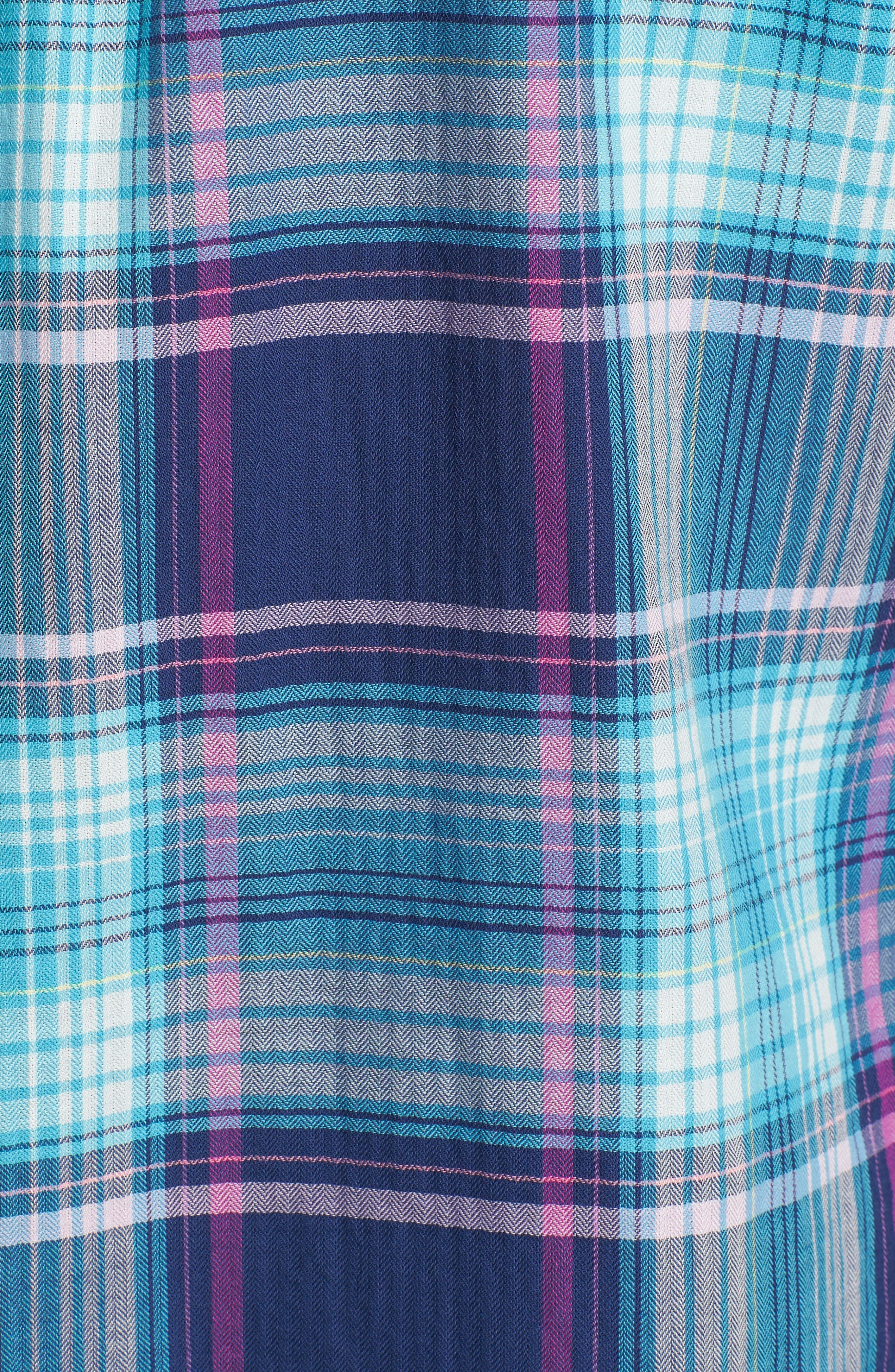 Play it Again Plaid Long Sleeve Shirt,                             Alternate thumbnail 5, color,                             Kingdom Blue
