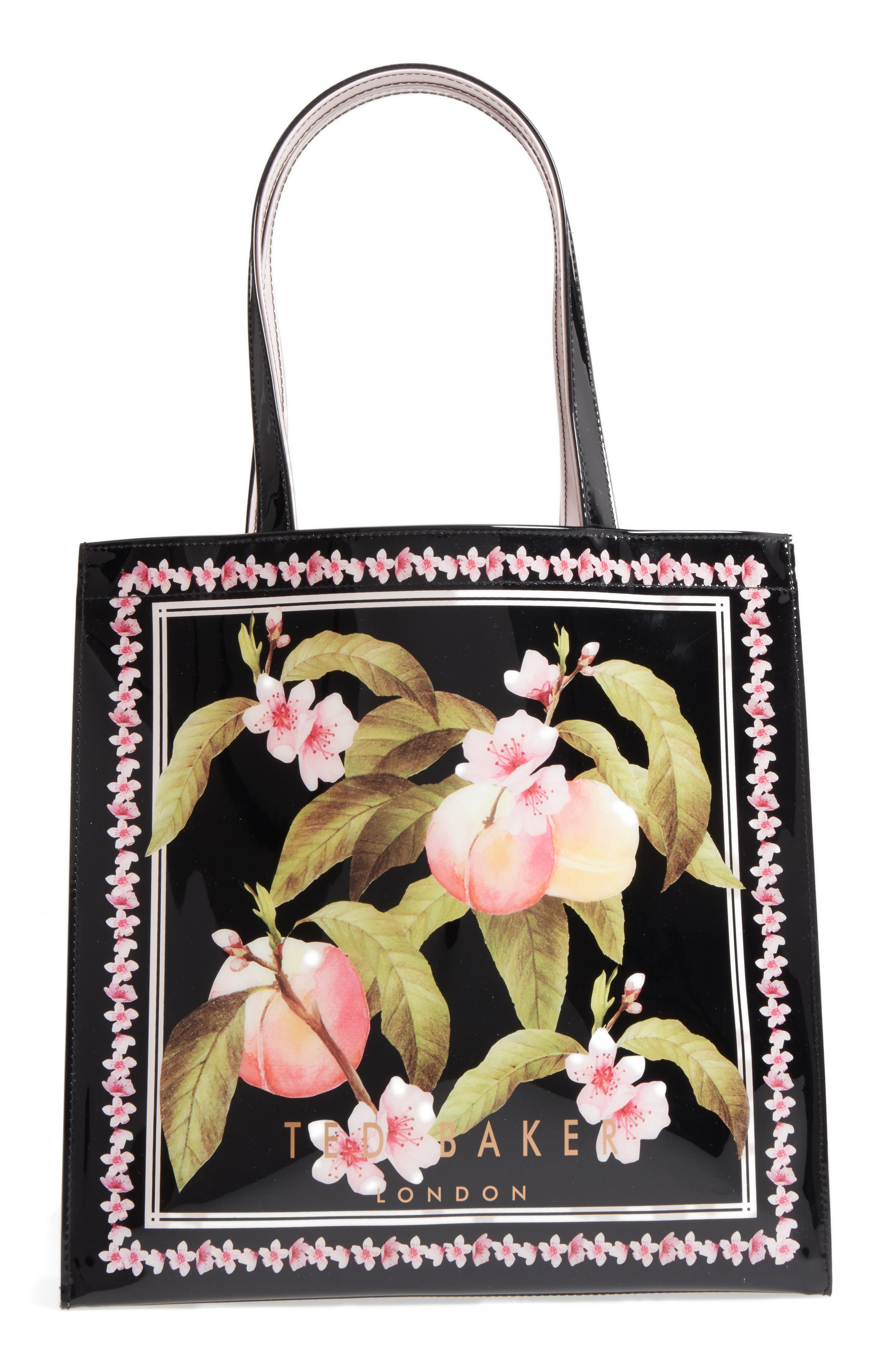 Main Image - Ted Baker London Large Icon - Macon Peach Blossom Tote