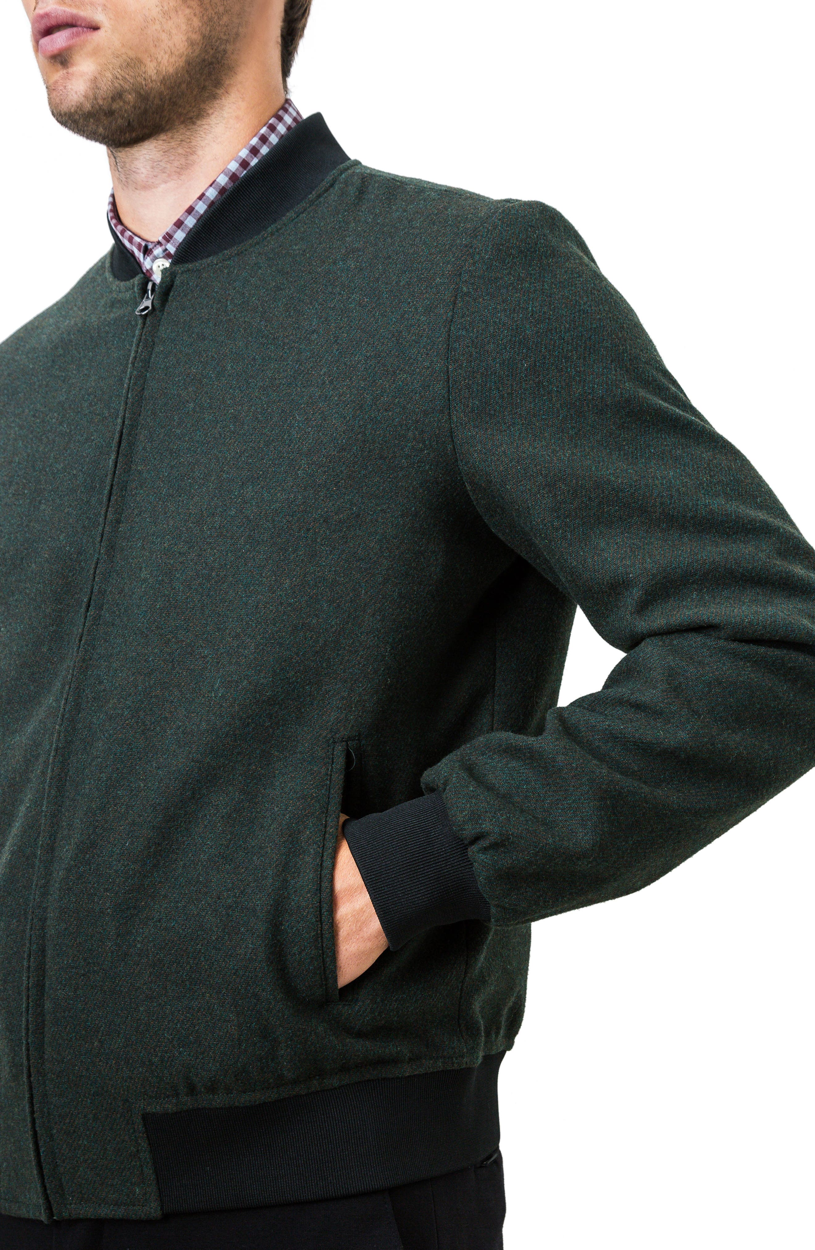 Aether Bomber Jacket,                             Alternate thumbnail 4, color,                             Pine
