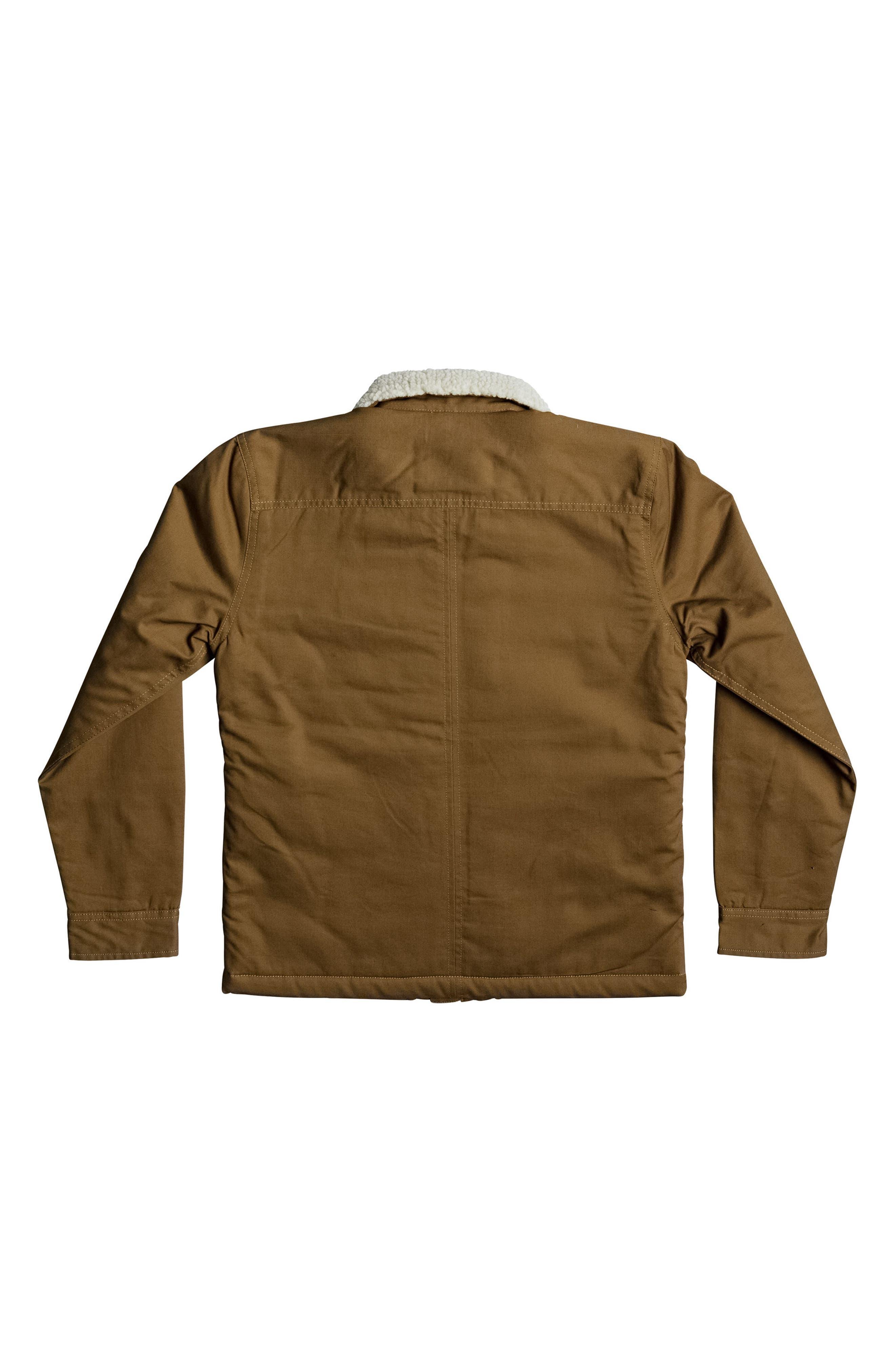 Dabein Fleece Lined Jacket,                             Alternate thumbnail 2, color,                             Rubber