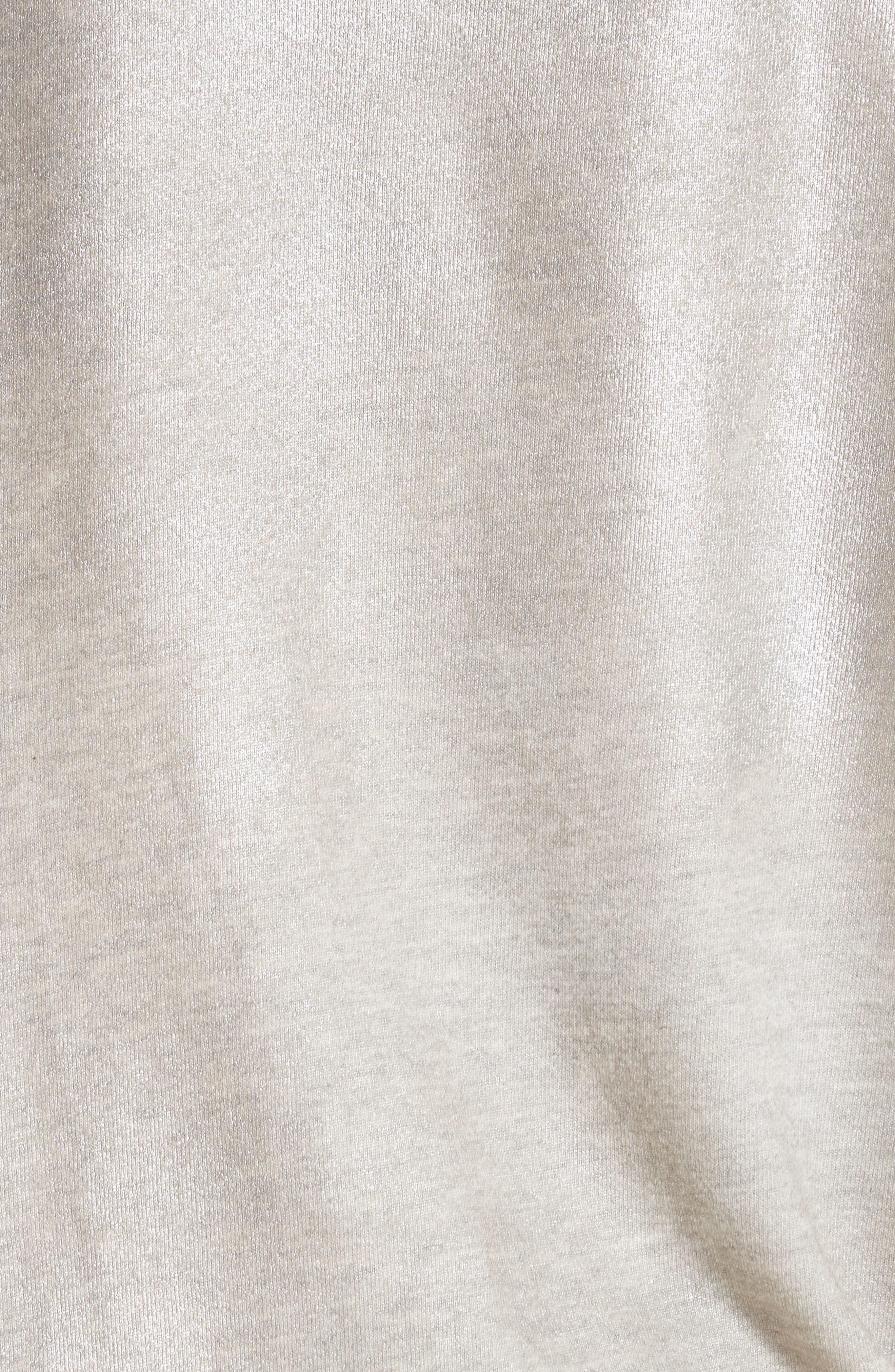 The College Metallic Foil Sweatshirt,                             Alternate thumbnail 6, color,                             Heather Grey