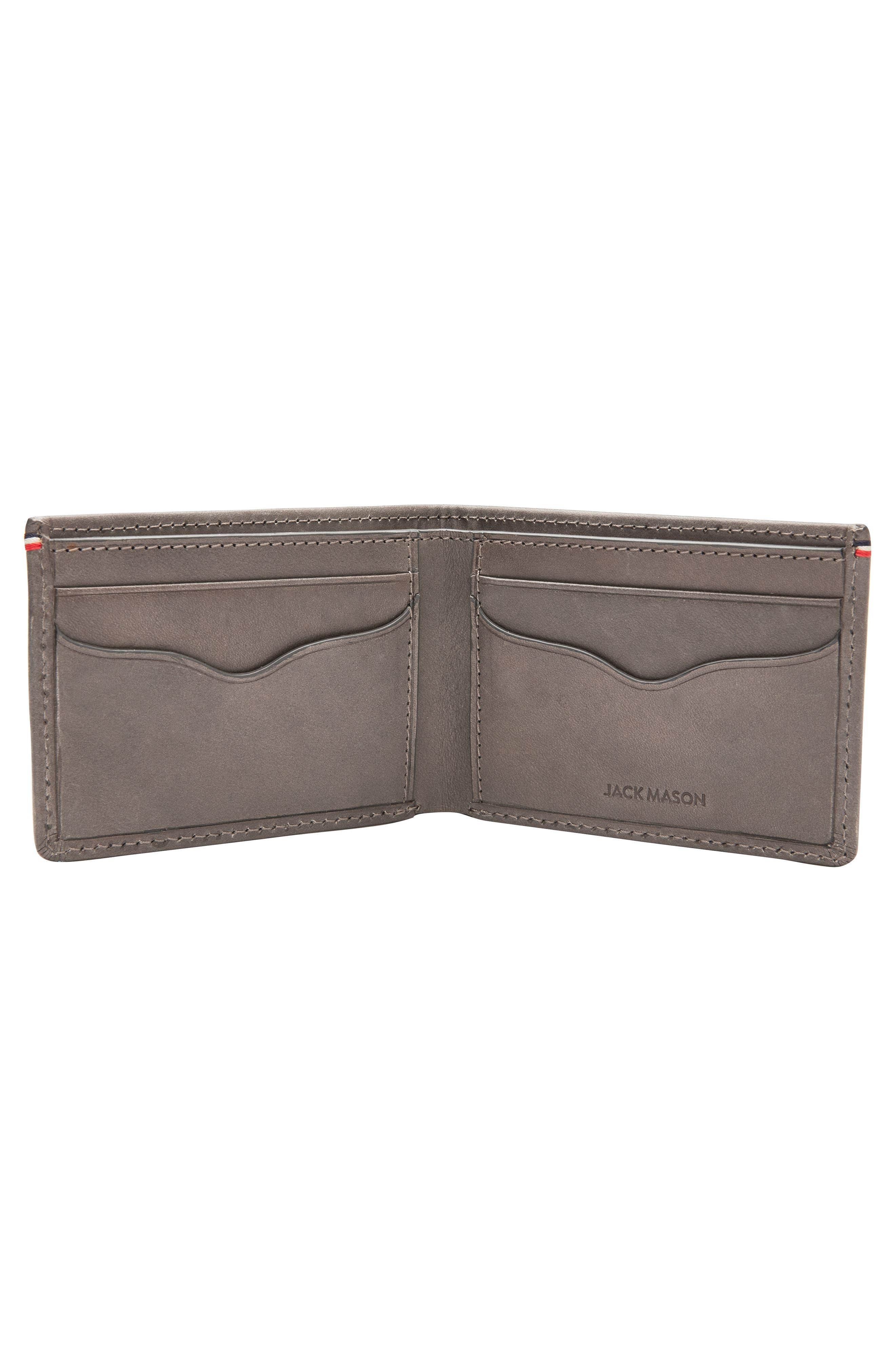 Core Slim Bifold Leather Wallet,                             Alternate thumbnail 2, color,                             Grey