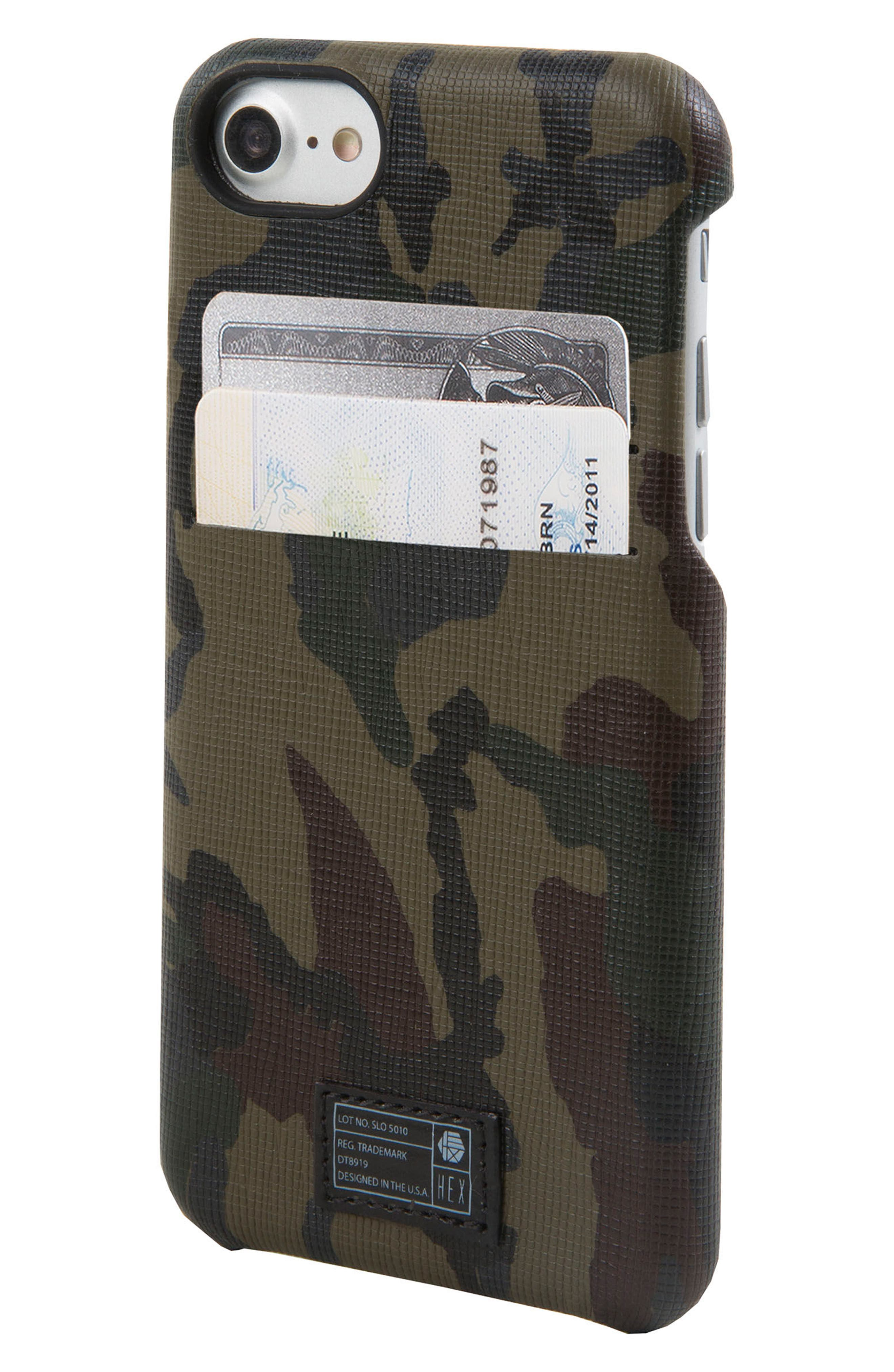 Solo iPhone 6/6s/7/8 Wallet Case,                             Alternate thumbnail 3, color,                             Camo/ Reflective