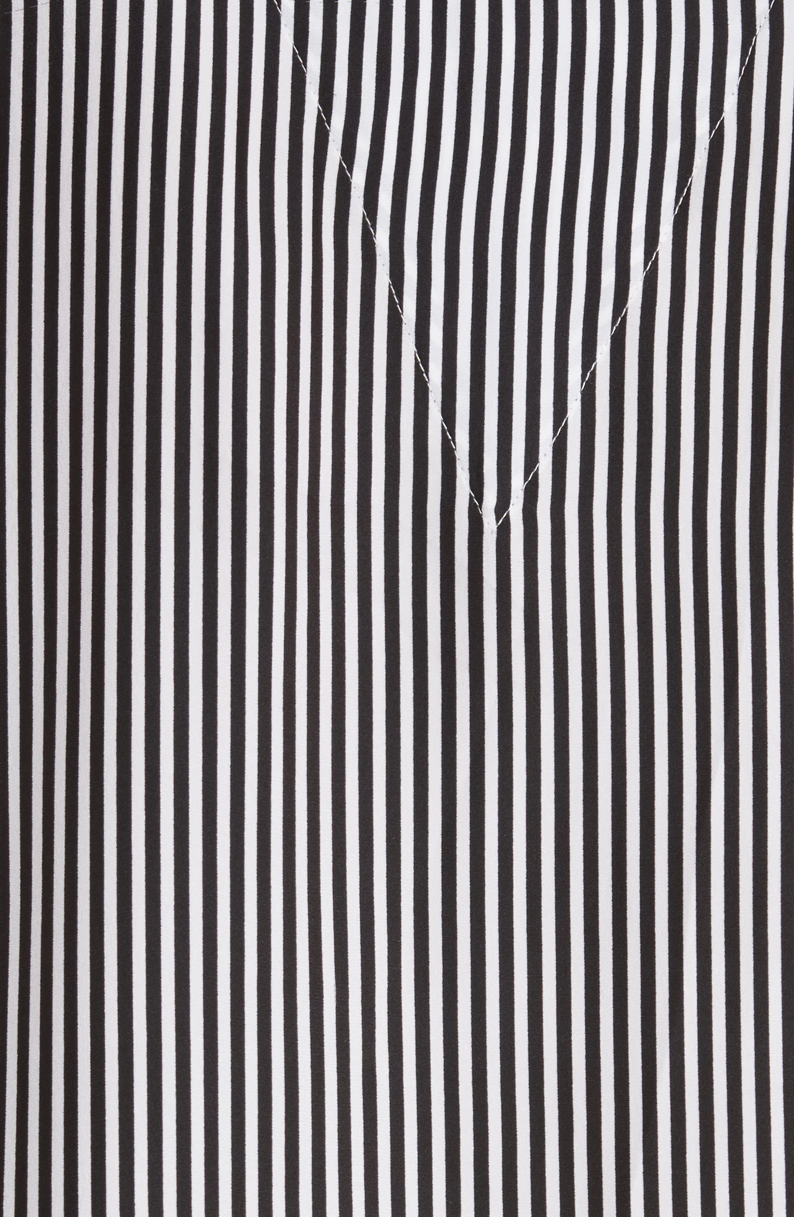 Alternate Image 6  - THE GREAT. Pencil Stripe Silk Sleeper Shirt