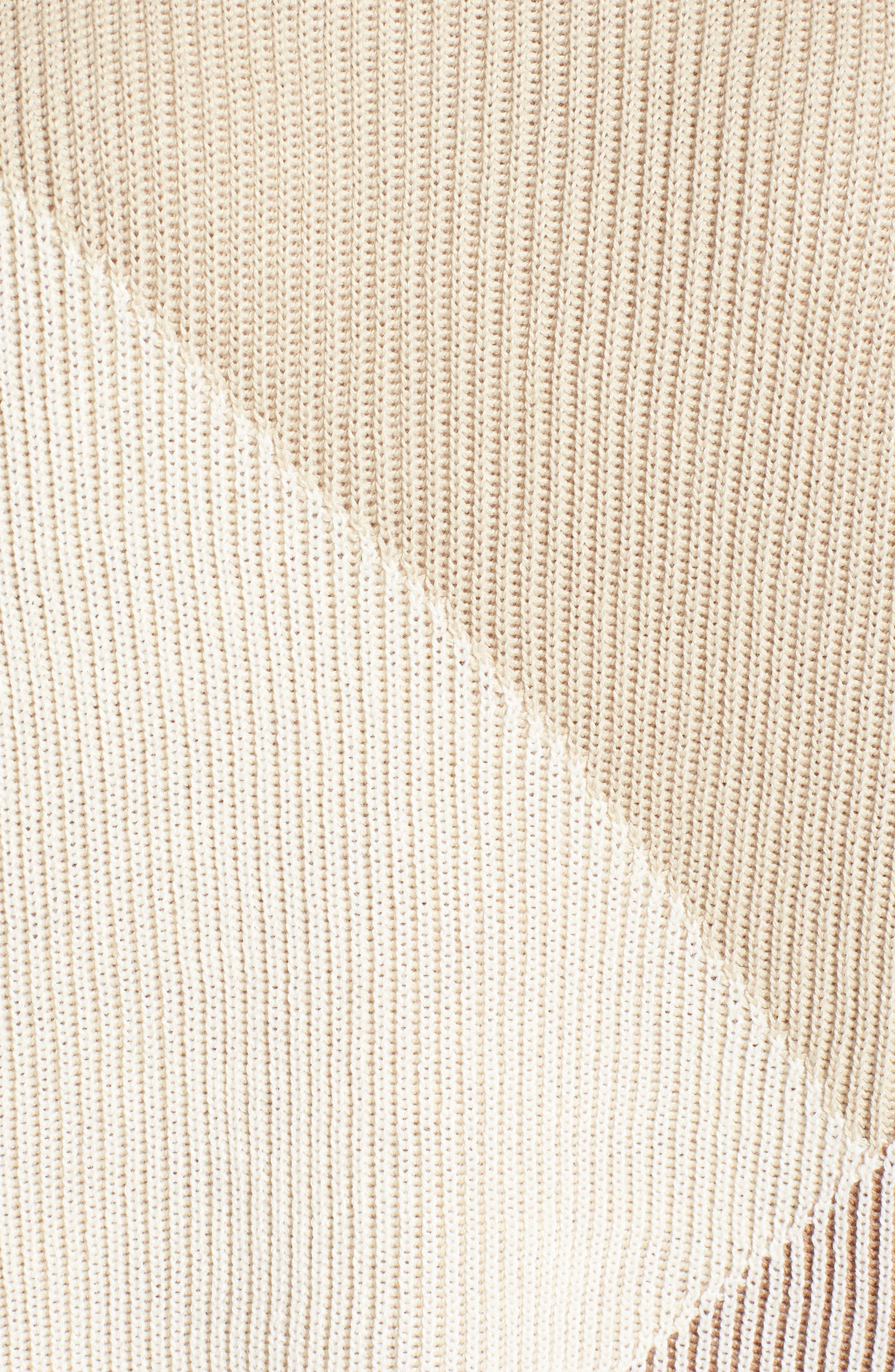 Linear Cozy Top,                             Alternate thumbnail 5, color,                             Beige Multi